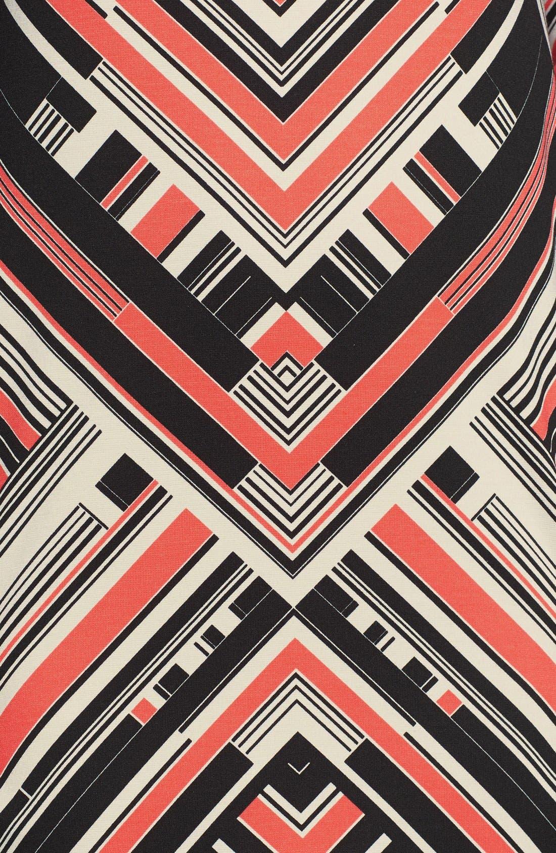 Alternate Image 4  - Vince Camuto Print Ponte Shift Dress