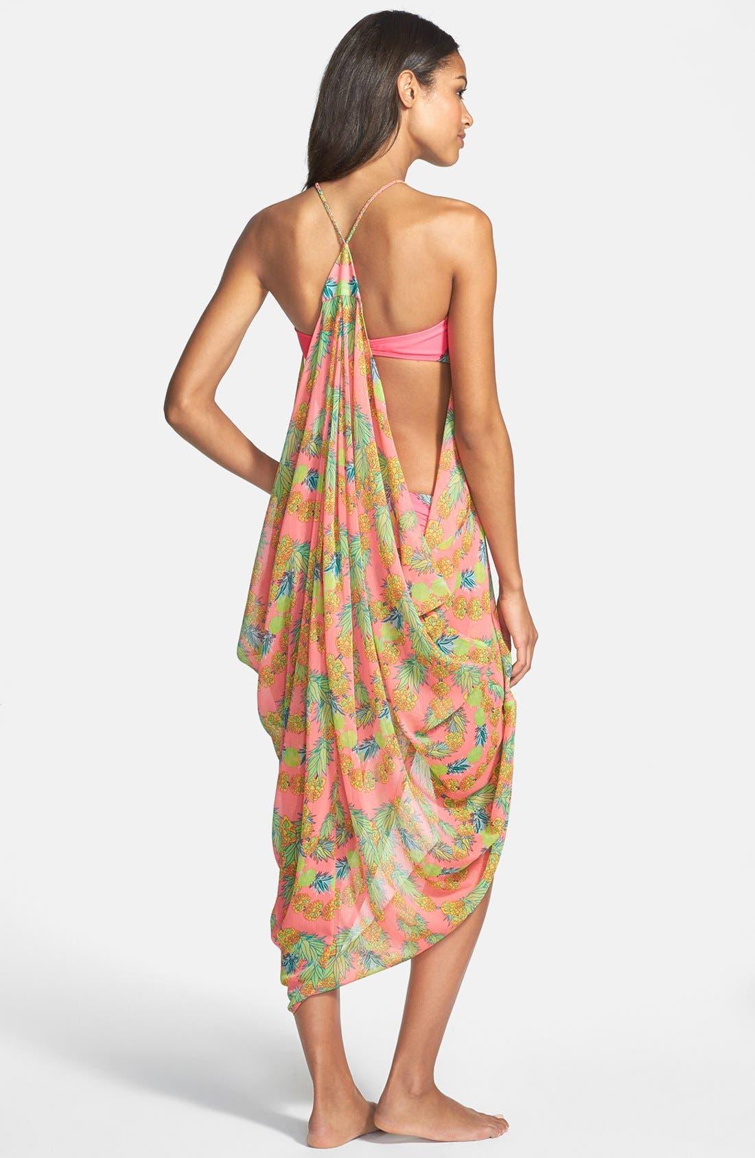 Alternate Image 2  - Mara Hoffman 'Garlands' Chiffon Cover-Up Drape Dress