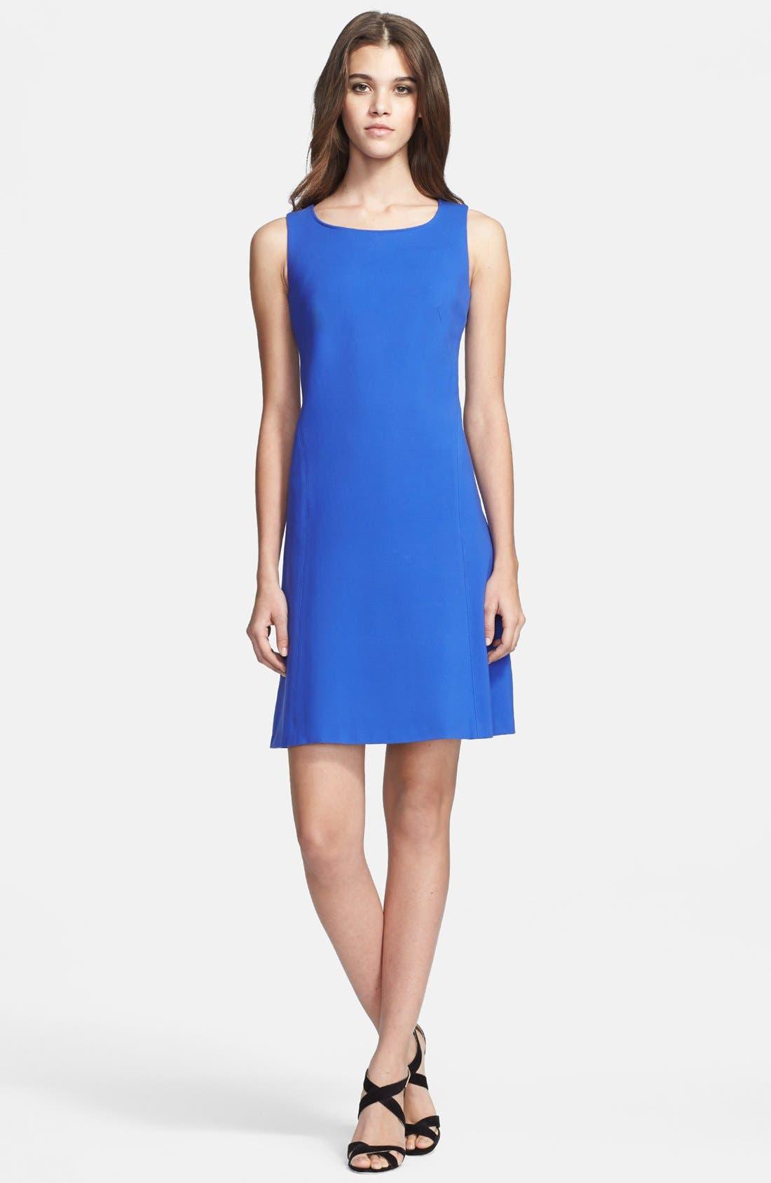 Main Image - Armani Collezioni Sleeveless Double Face Jersey Dress