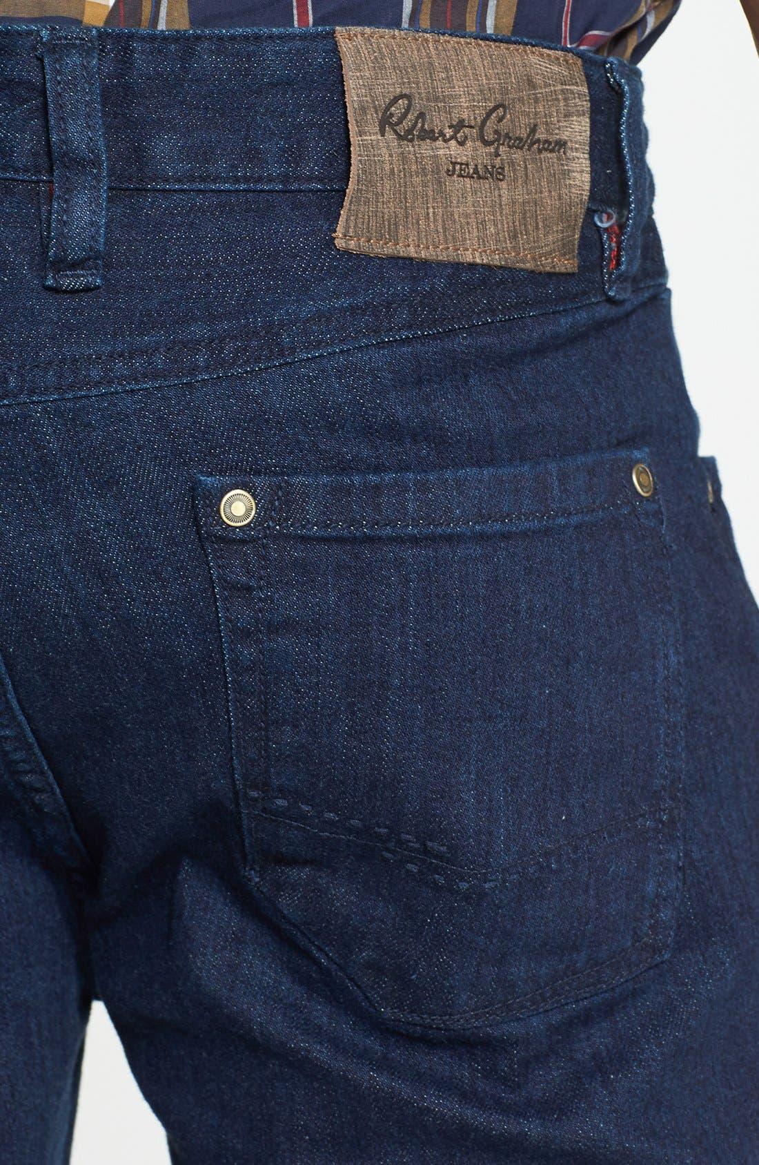 Alternate Image 4  - Robert Graham 'Mad Hatter' Slim Fit Straight Leg Jeans