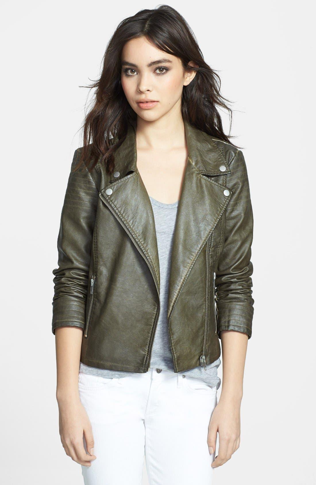 Alternate Image 1 Selected - BB Dakota 'Dita' Faux Leather Moto Jacket