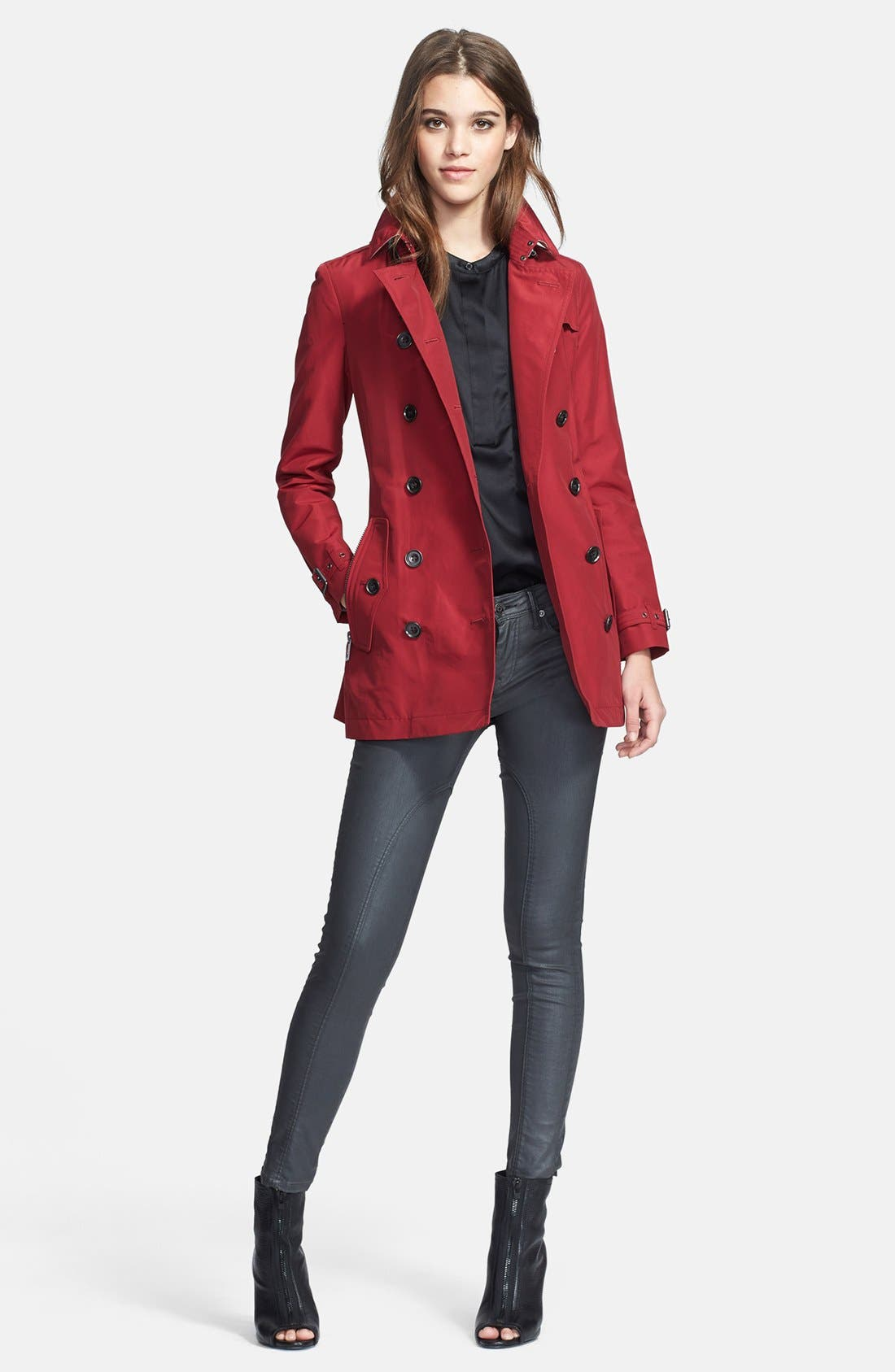 Alternate Image 4  - Burberry Brit 'Brookesby' Double Breasted Trench Coat