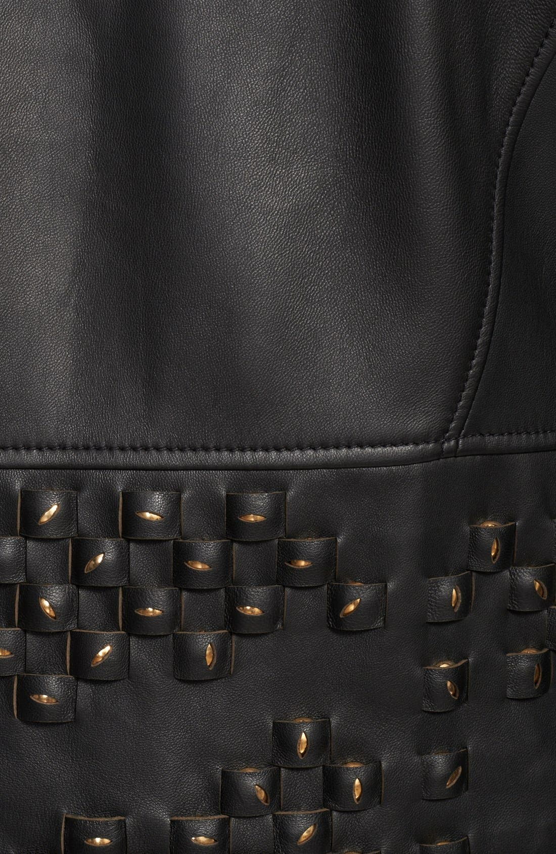 Alternate Image 4  - Versace Collection Studded Leather Jacket