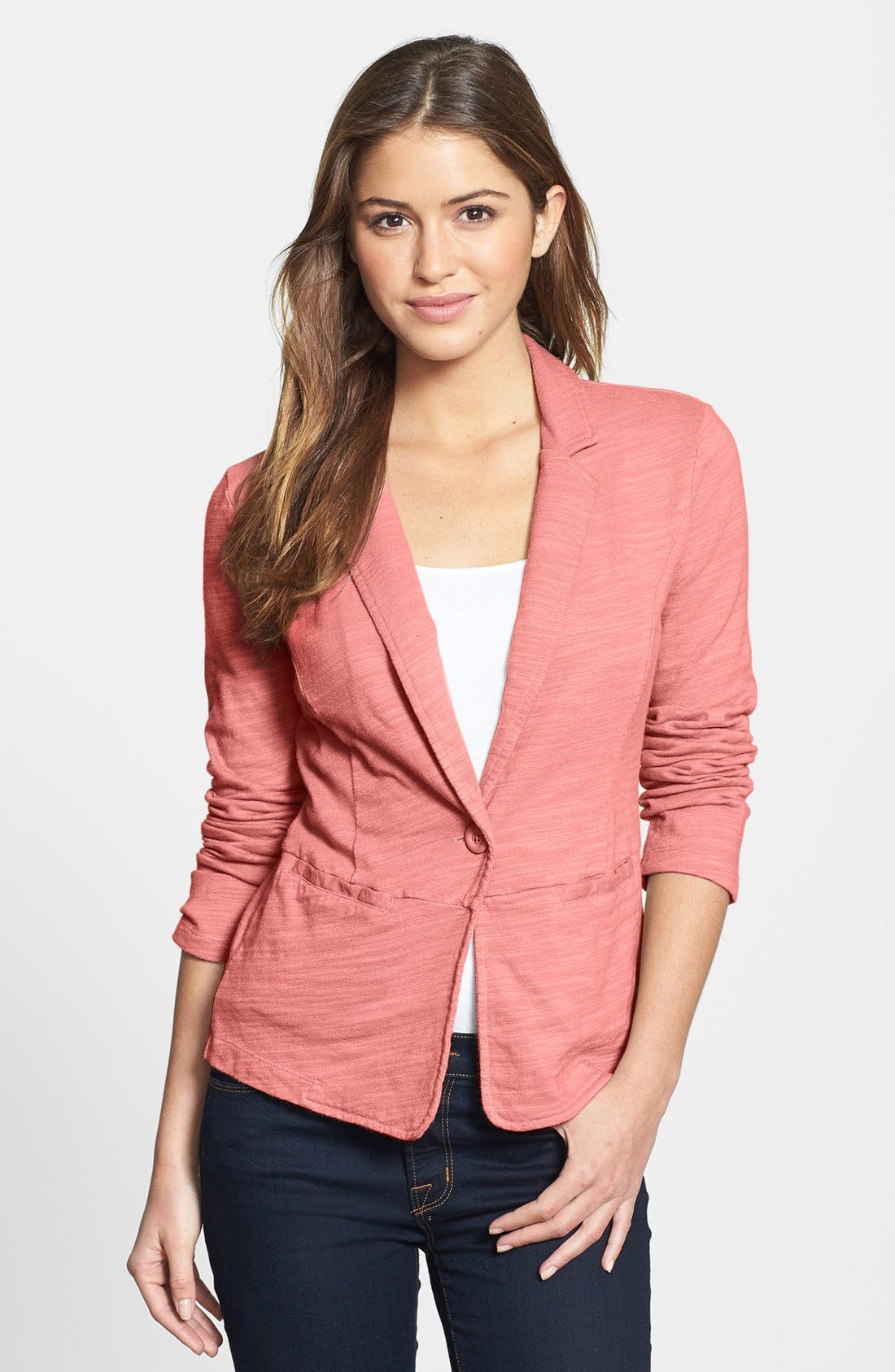 Alternate Image 1 Selected - Caslon® Single-Button Cotton Jacket