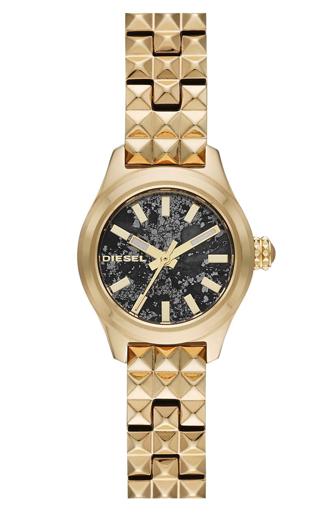 Alternate Image 1 Selected - DIESEL® 'Kray Kray' Mini Bracelet Watch, 22mm