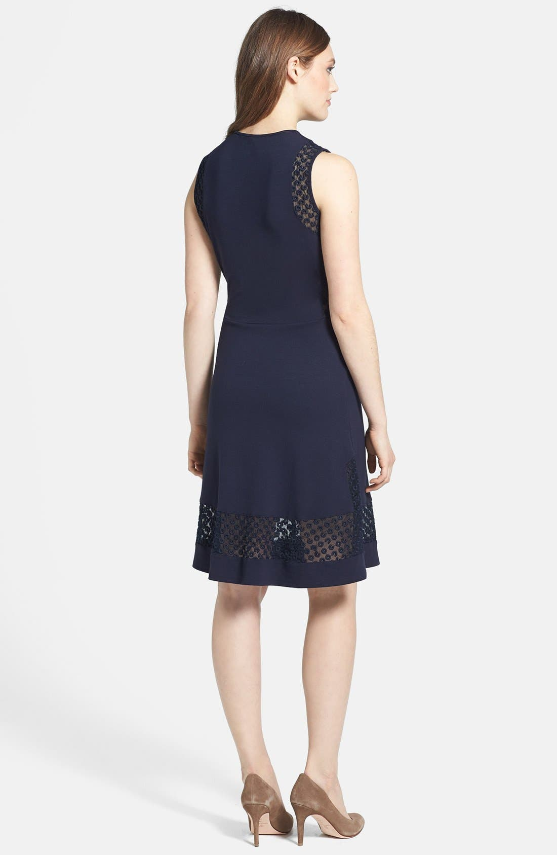 Alternate Image 2  - French Connection Lace Inset Jersey Fit & Flare Dress