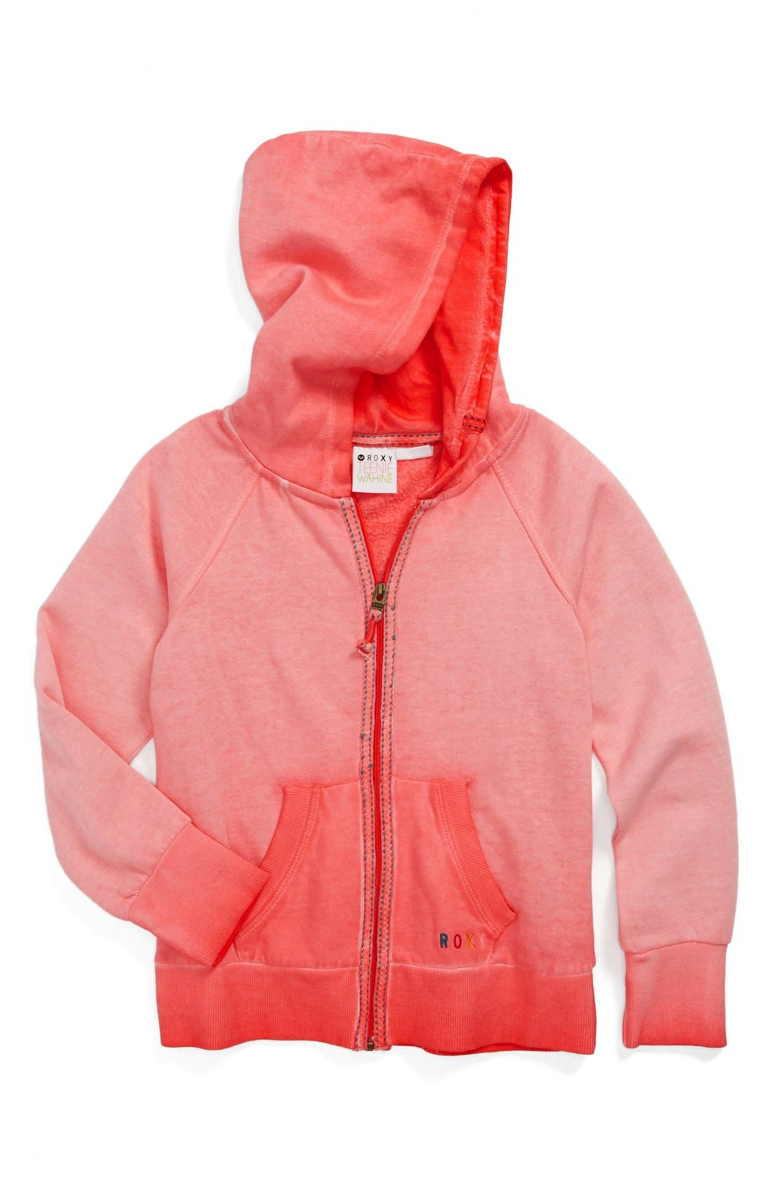 Alternate Image 1 Selected - Roxy 'Sunbleached' Hoodie (Little Girls & Big Girls)