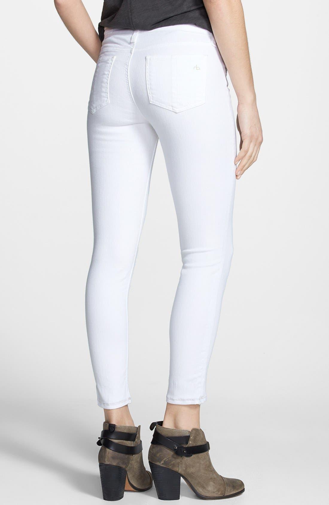 Alternate Image 2  - rag & bone/JEAN 'Repair' Skinny Crop Jeans (Bright White)