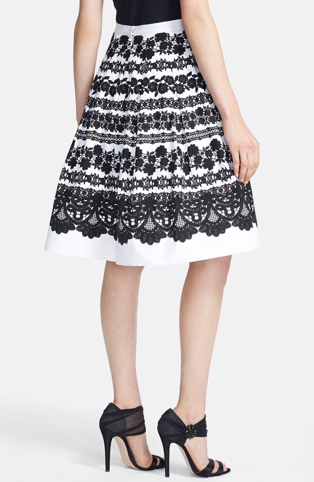Alternate Image 2  - Oscar de la Renta Lace Print Full Skirt