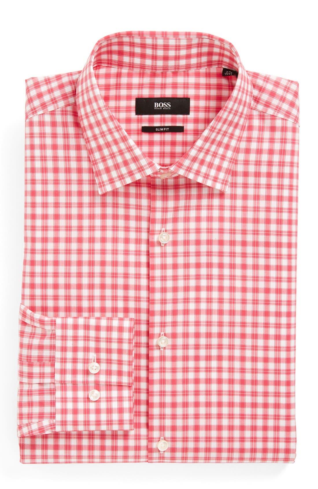 Alternate Image 1 Selected - BOSS HUGO BOSS Slim Fit 'Jenno' Easy Iron Dress Shirt