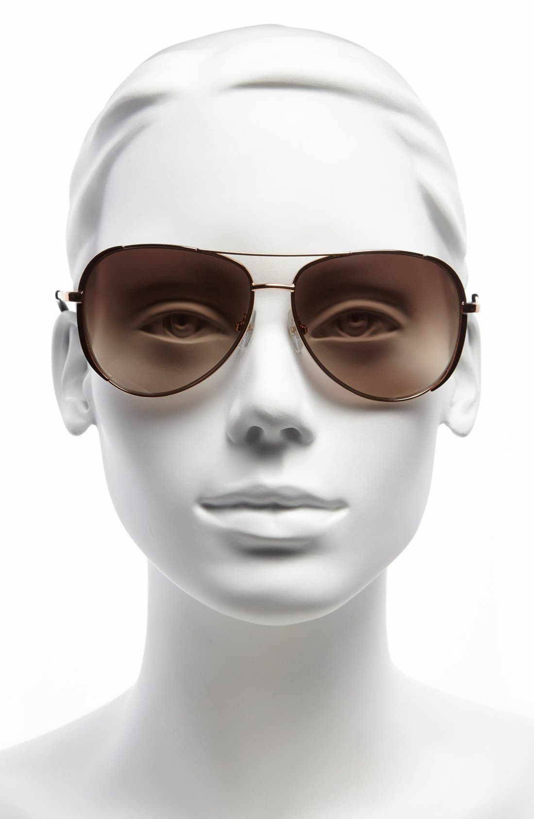 Alternate Image 2  - MICHAEL Michael Kors 'Sicily' 59mm Metal Aviator Sunglasses