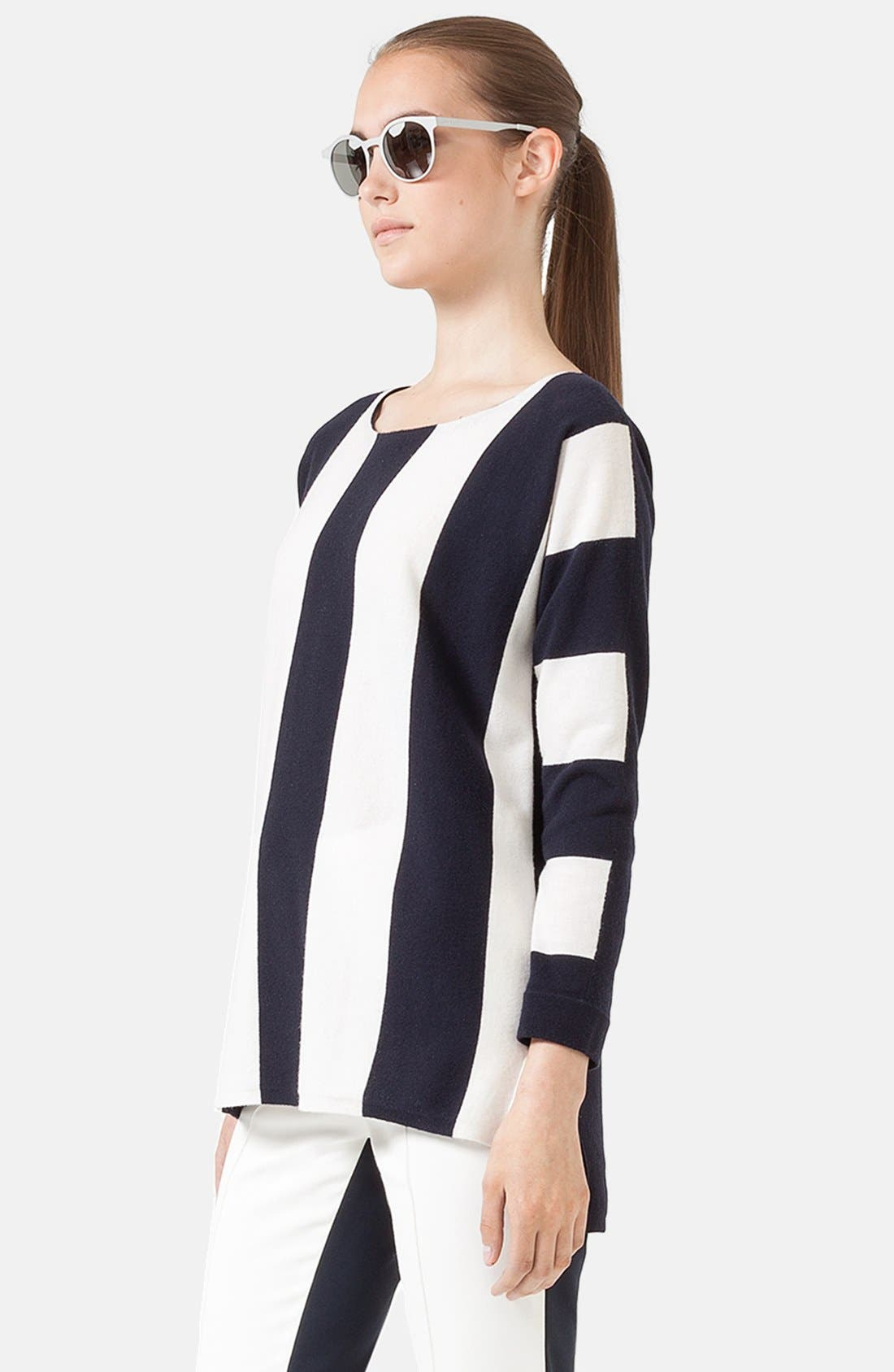 Alternate Image 2  - Akris punto Stripe Knit Tunic Sweater