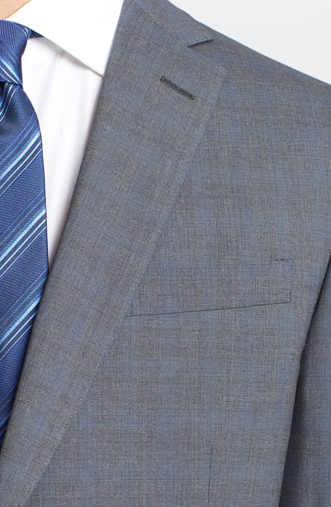 Alternate Image 5  - Z Zegna Trim Fit Grey Wool Suit