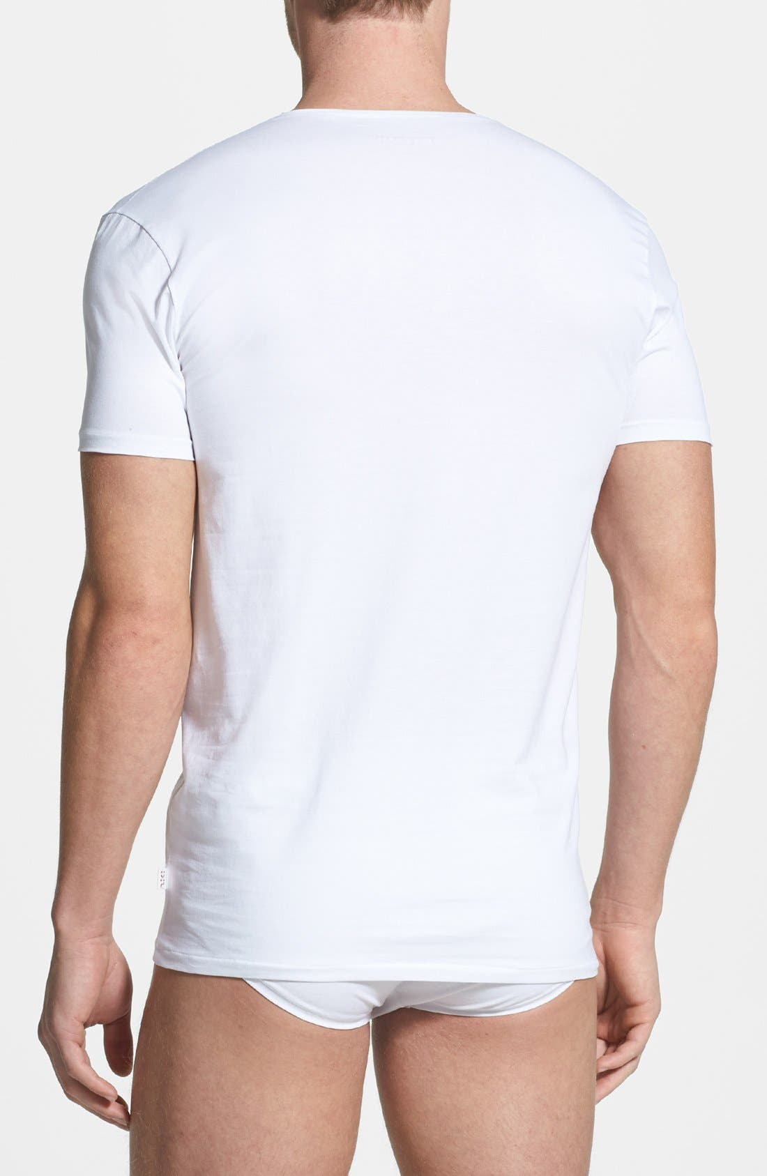 Alternate Image 2  - Derek Rose 'Jack 1' Stretch V-Neck T-Shirt
