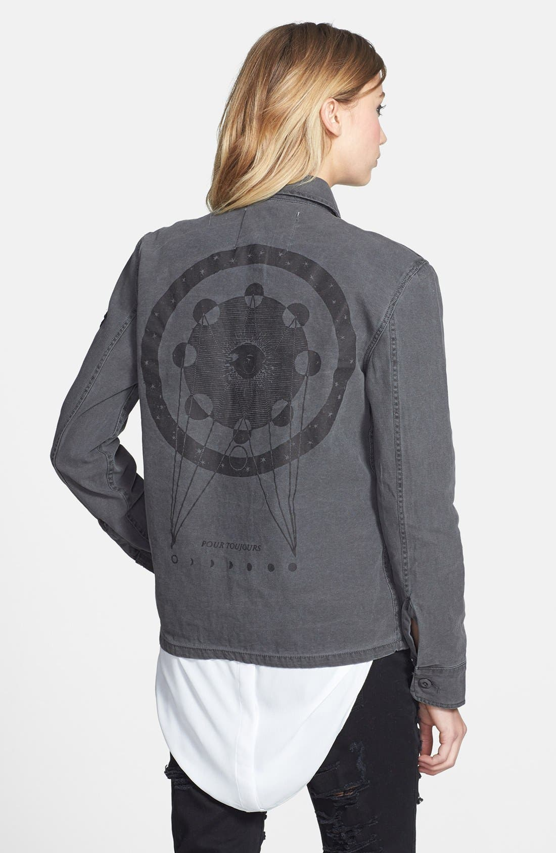 Alternate Image 2  - Knot Sisters 'Walker' Print Cotton Jacket