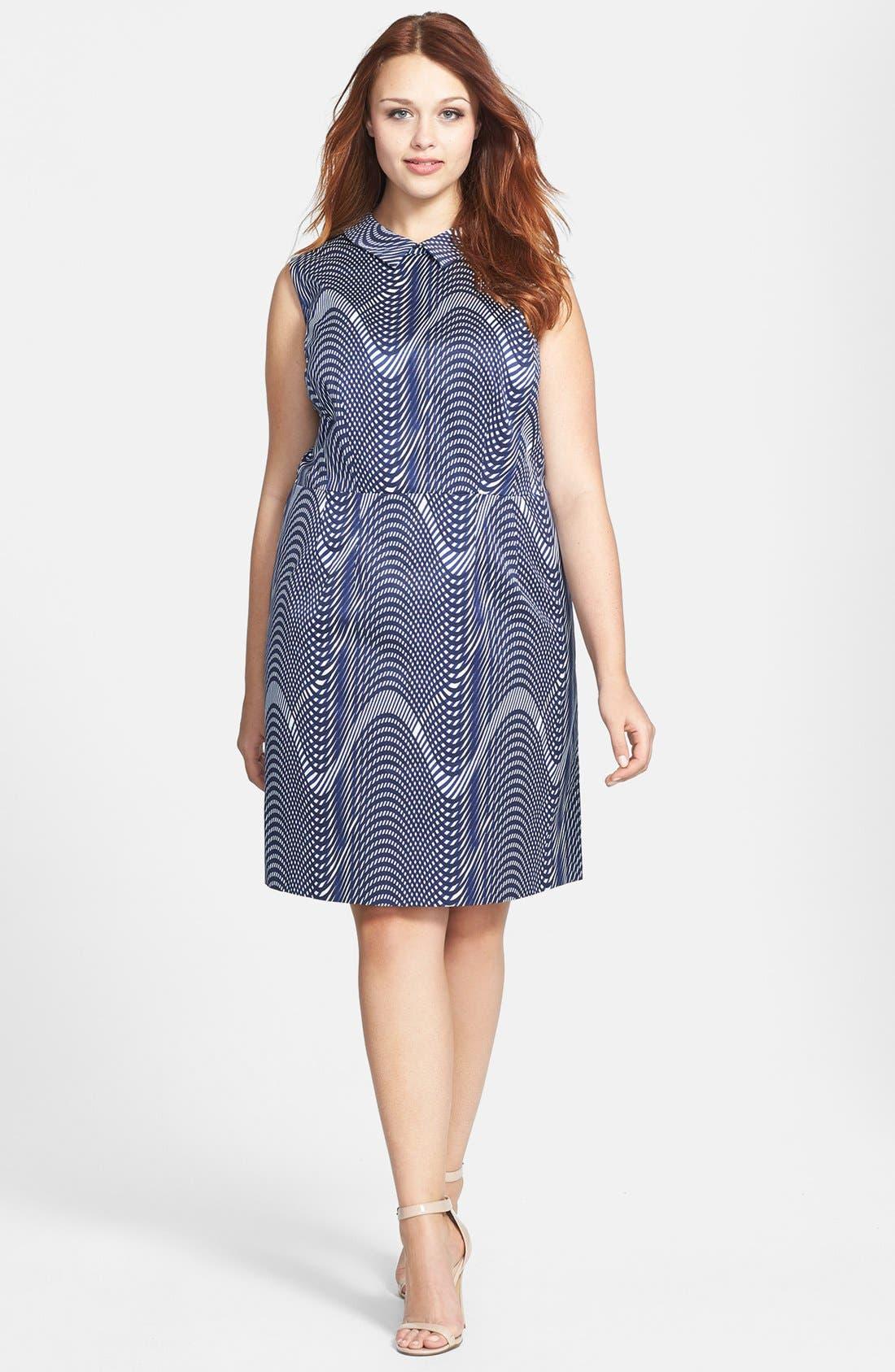 Alternate Image 1 Selected - Halogen® Faille Sheath Dress (Plus Size)