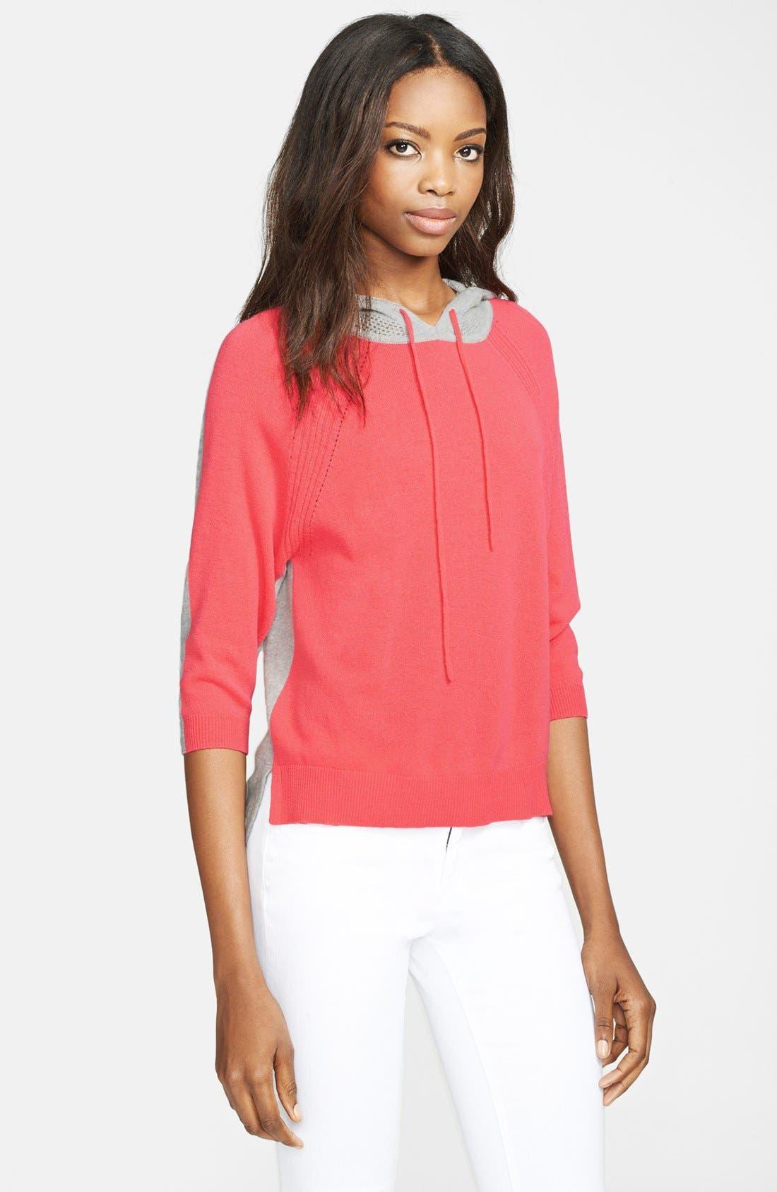 Alternate Image 1 Selected - autumn cashmere Colorblock Cashmere Hoodie