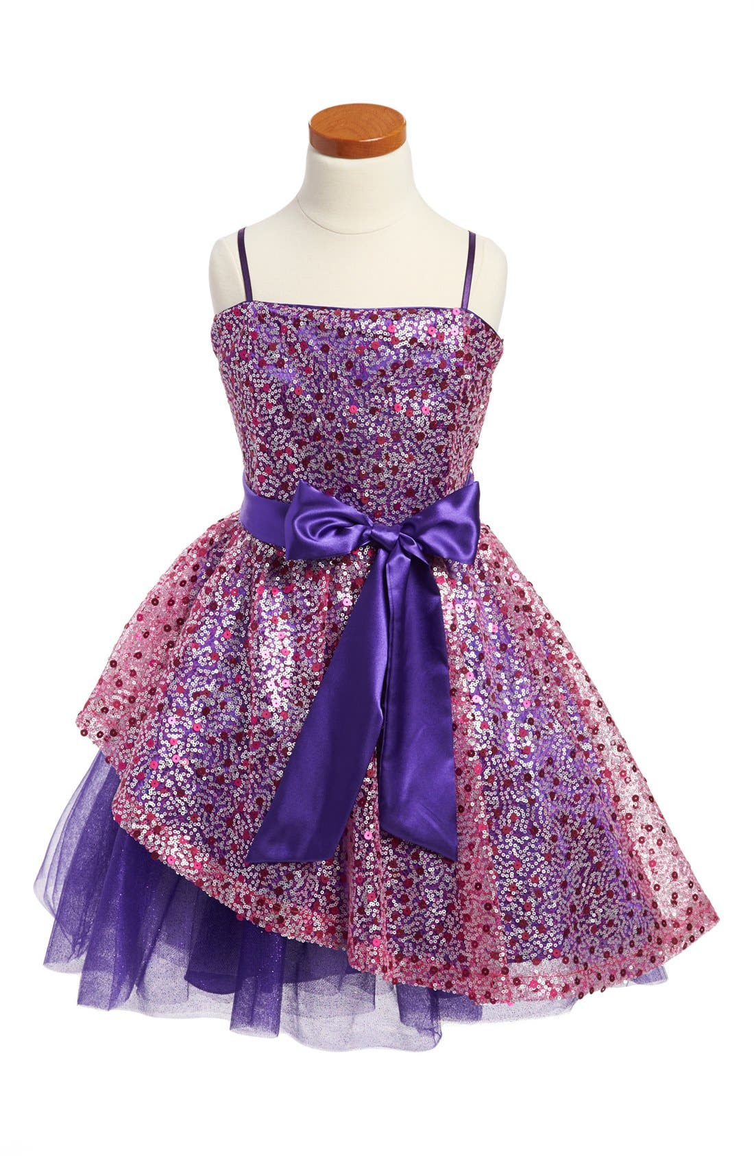 Alternate Image 1 Selected - Un Deux Trois Sequin Dress (Big Girls)