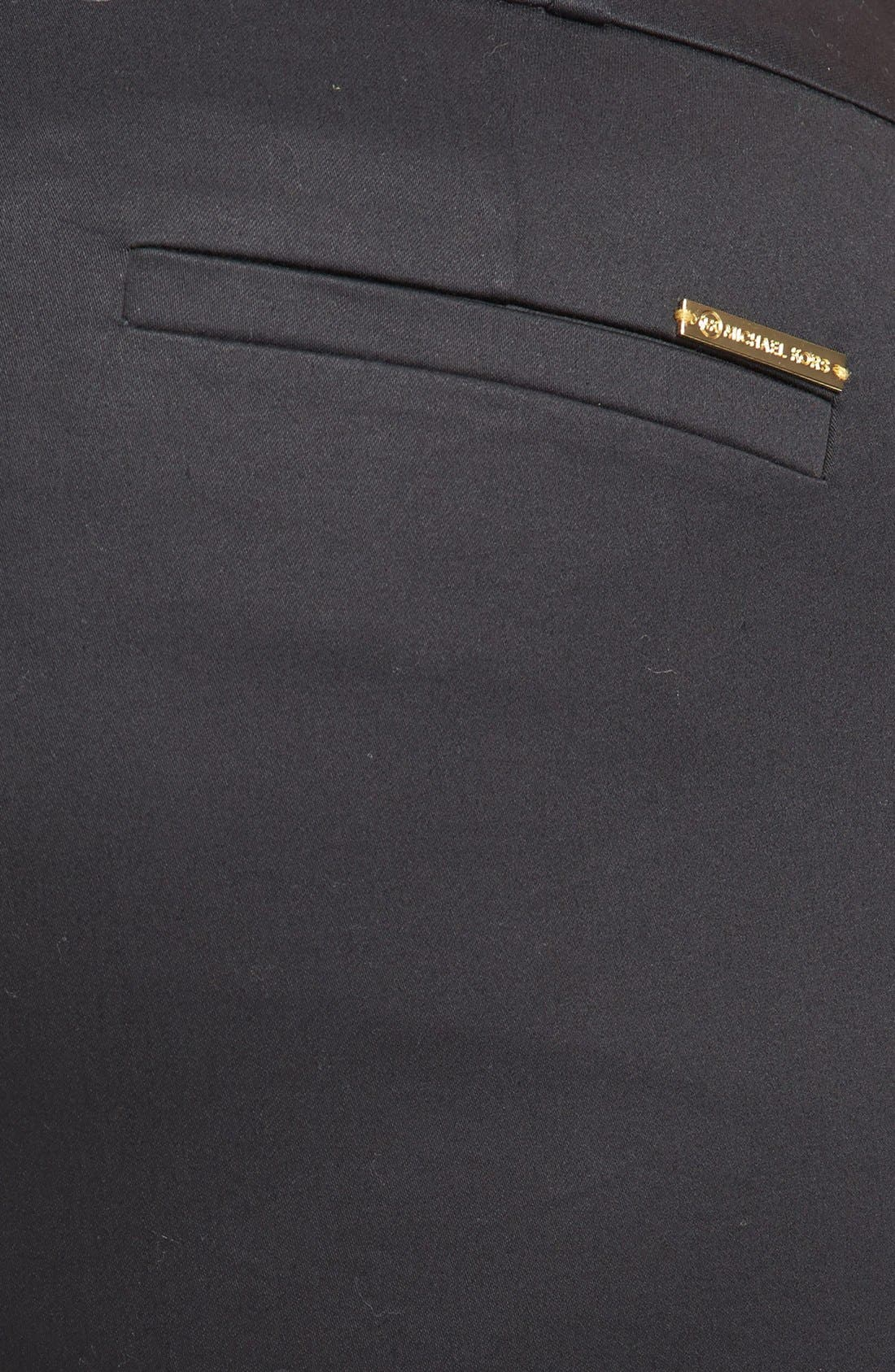 Alternate Image 3  - MICHAEL Michael Kors 'Welles' Stretch Cotton Sateen Ankle Pants (Plus Size)