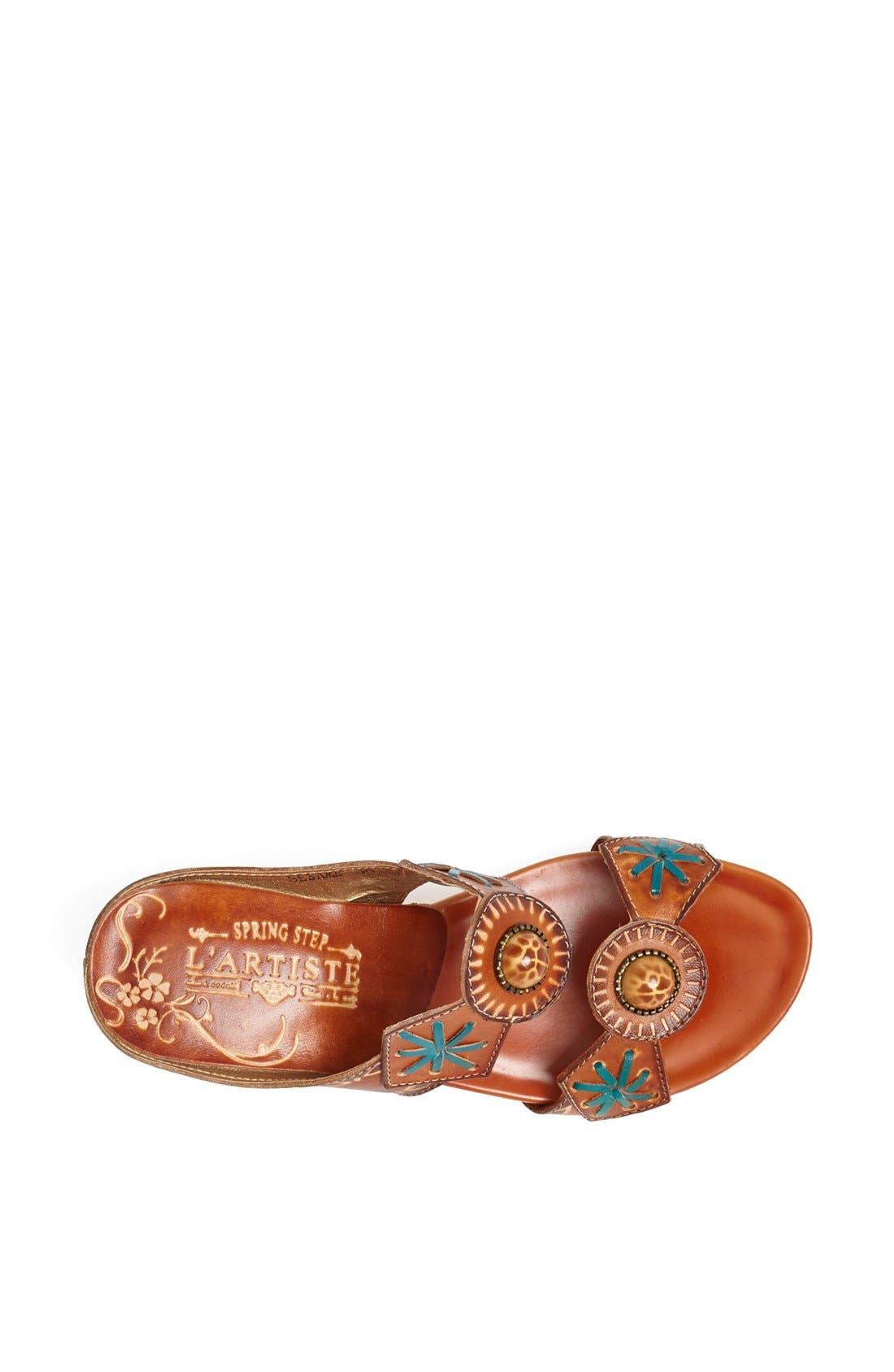 Alternate Image 3  - Spring Step 'Sesame' Leather Wedge Sandal
