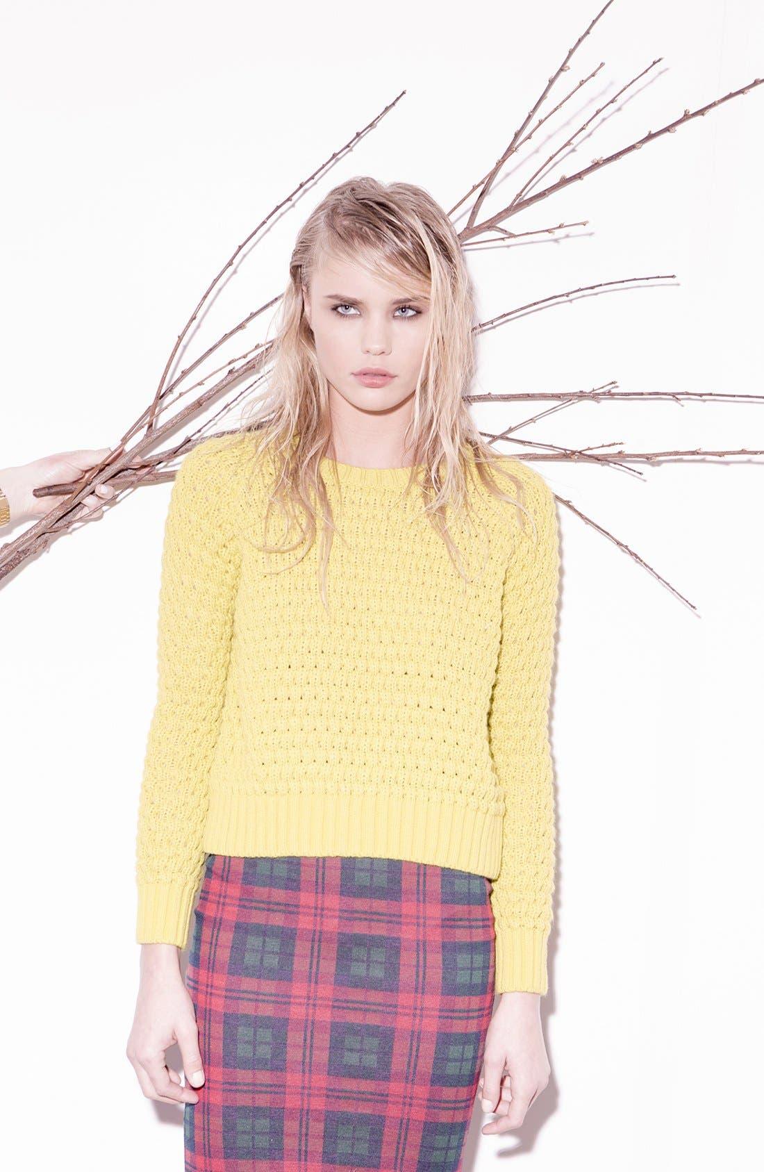 Alternate Image 6  - Topshop Check Print Tube Skirt