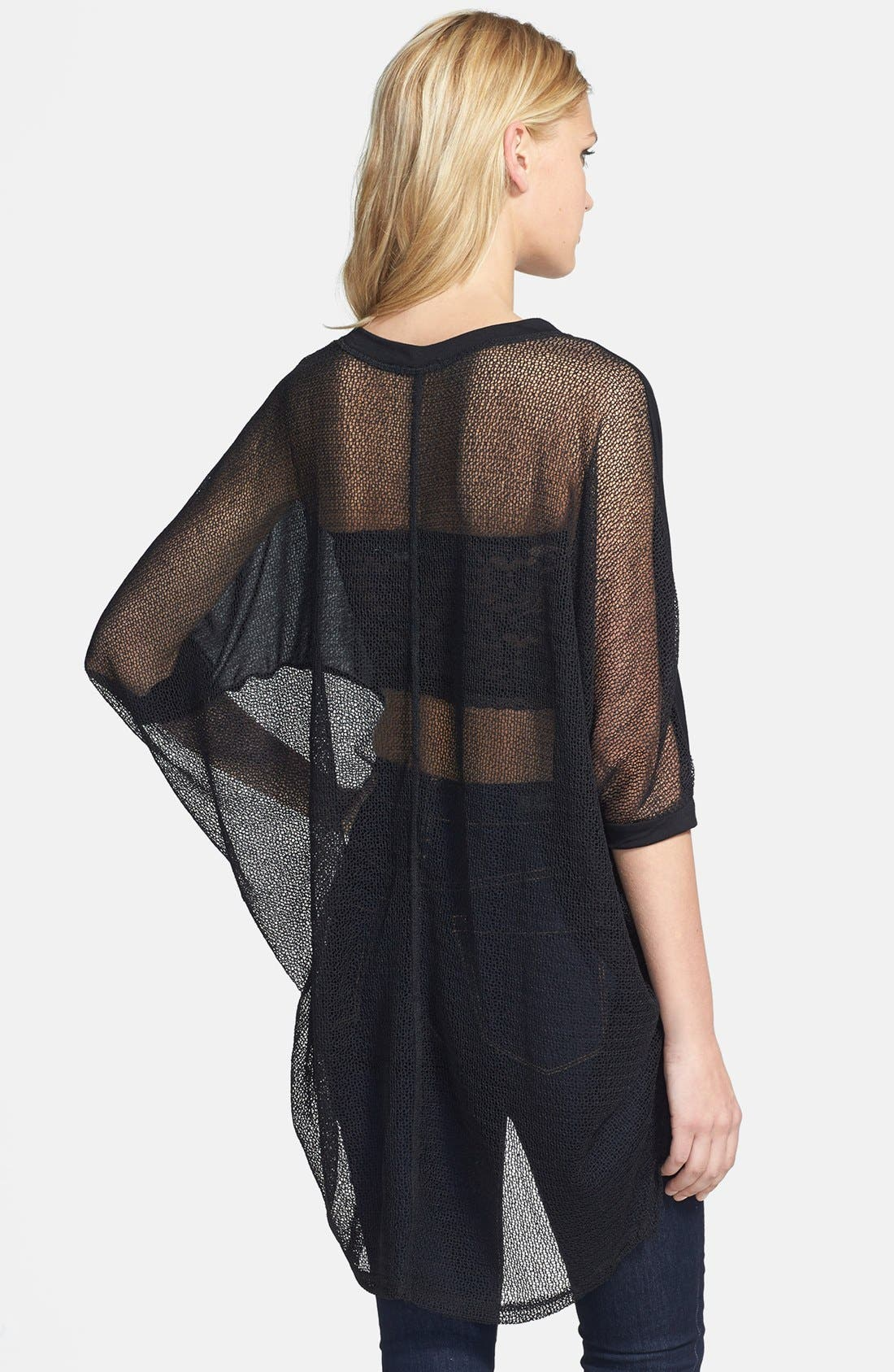Alternate Image 2  - Lucca Couture High/Low Sheer Mesh Top