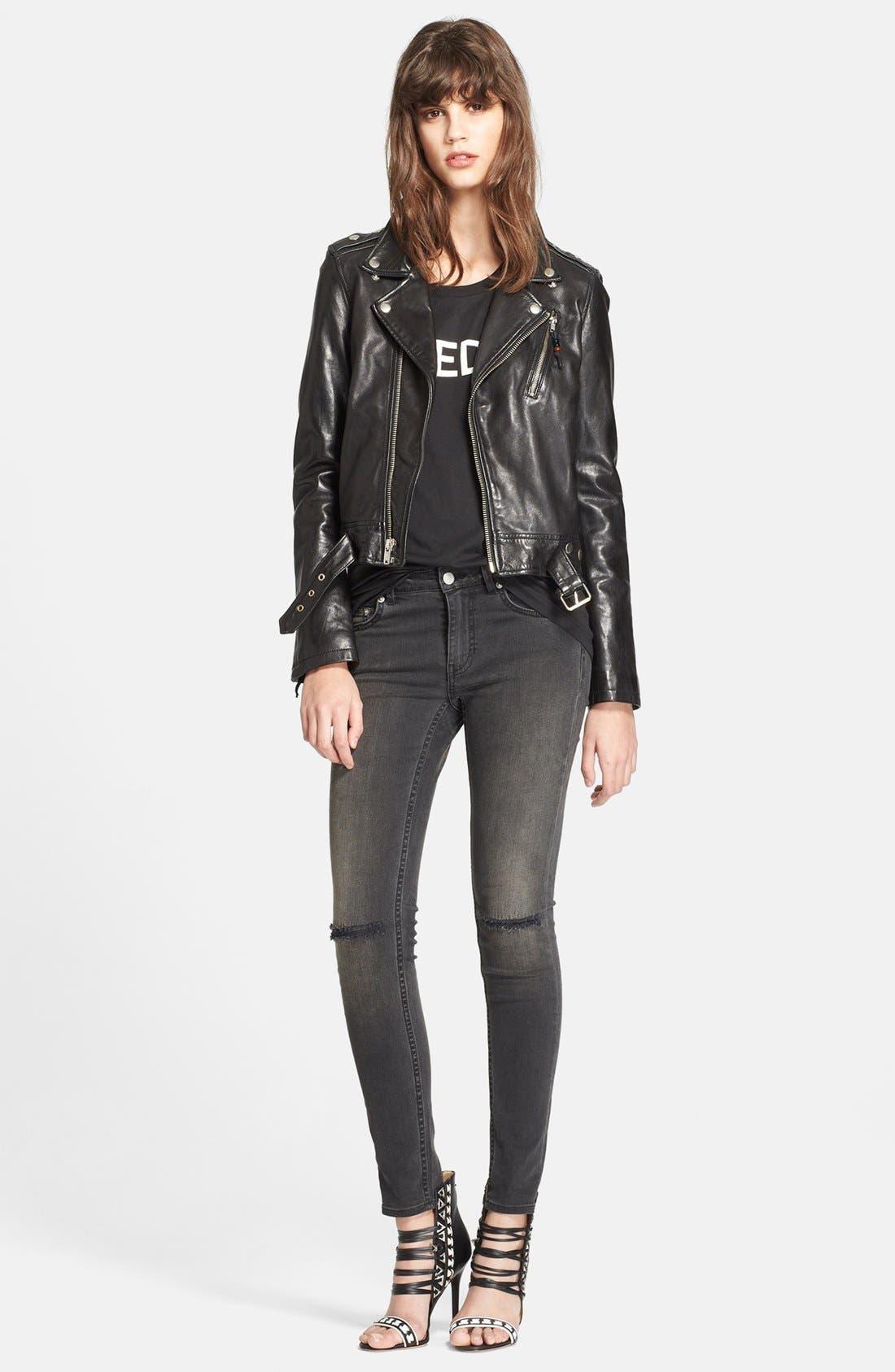 Alternate Image 3  - BLK DNM Lambskin Leather Jacket