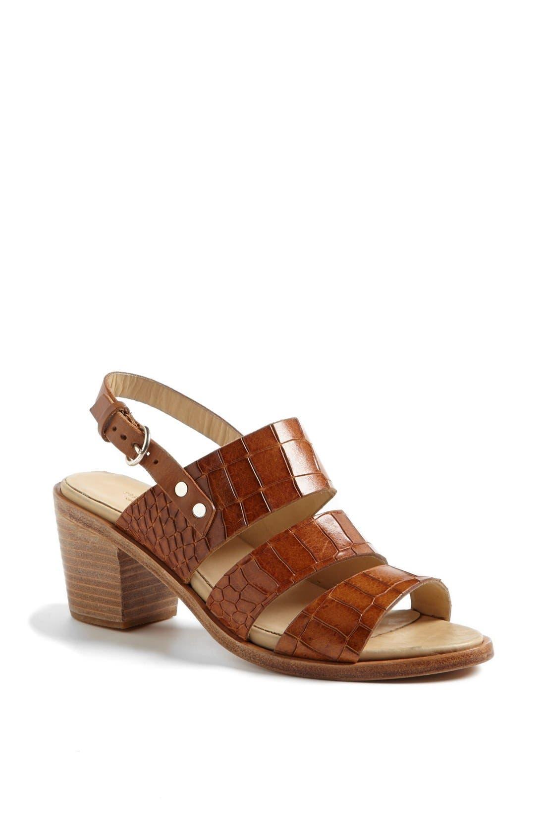 Alternate Image 1 Selected - rag & bone 'Folsom' Croc Embossed Sandal (Online Only)