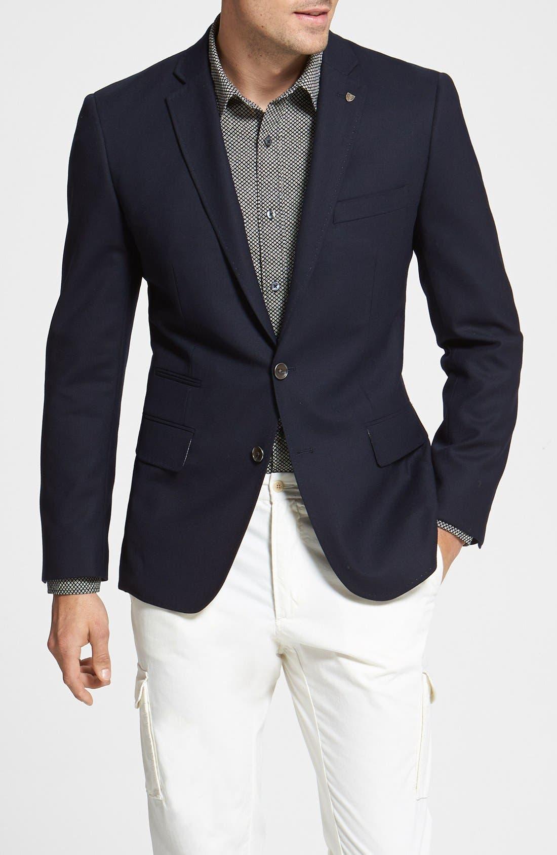 Alternate Image 1 Selected - Wallin & Bros. Trim Fit Wool Blazer