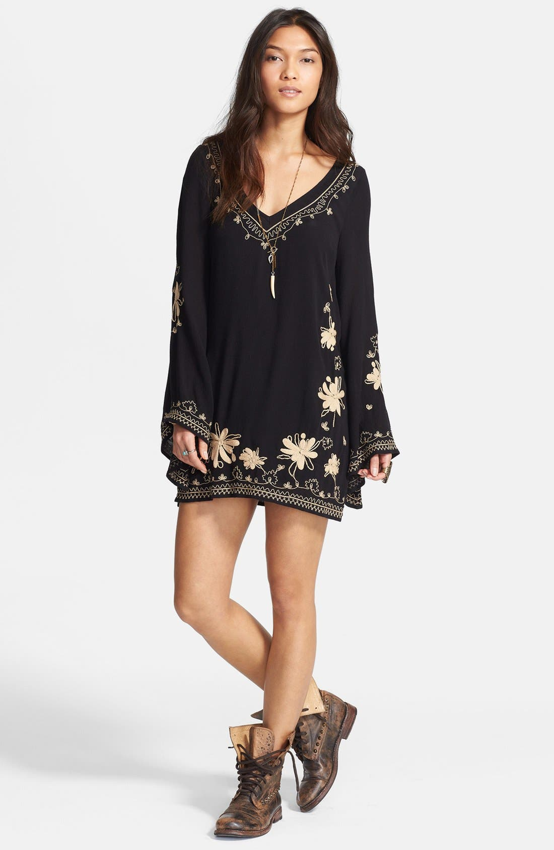 Alternate Image 1 Selected - Free People Embroidered Gauze Dress