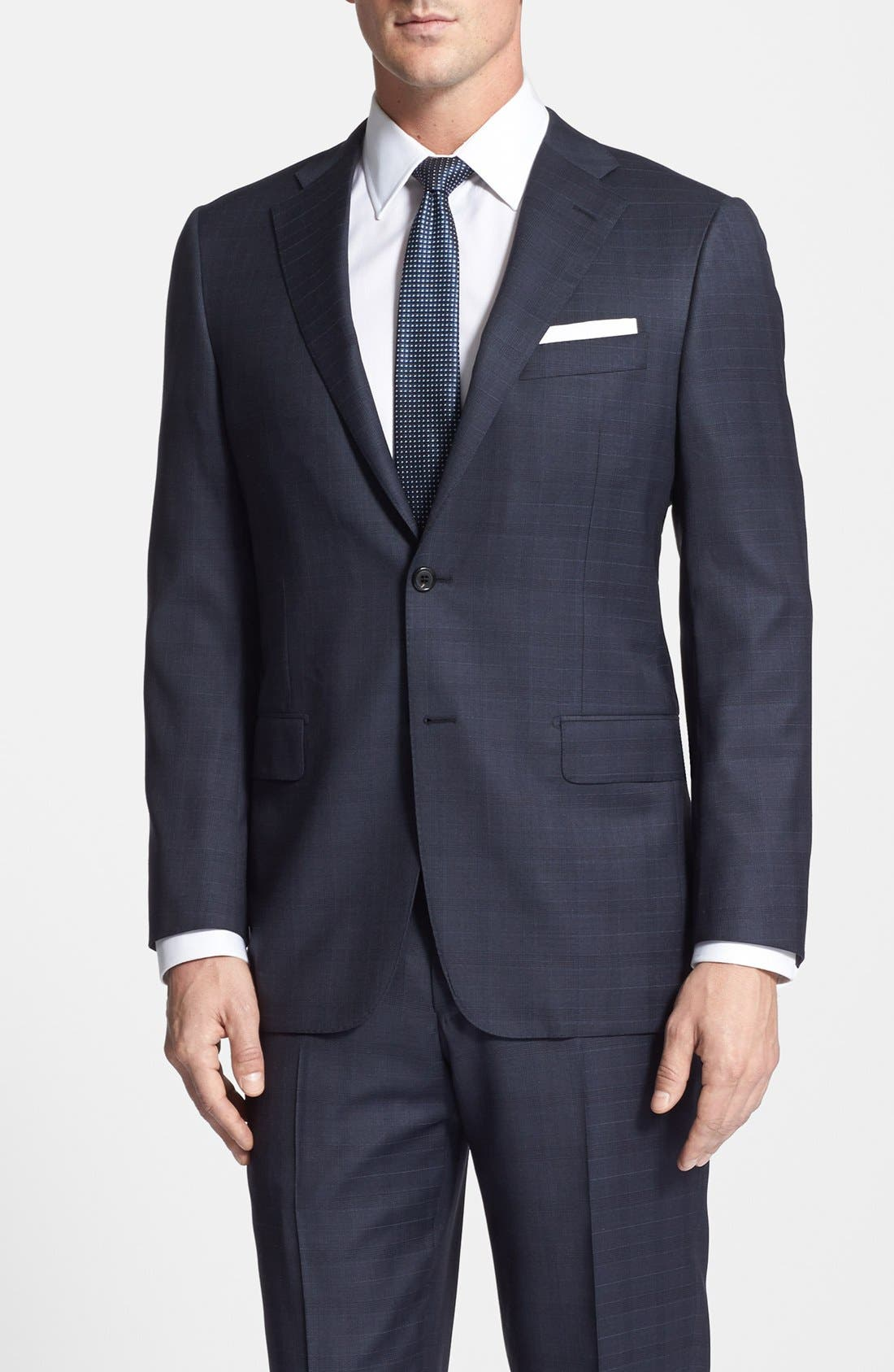 Alternate Image 3  - Hickey Freeman Classic Fit Plaid Suit