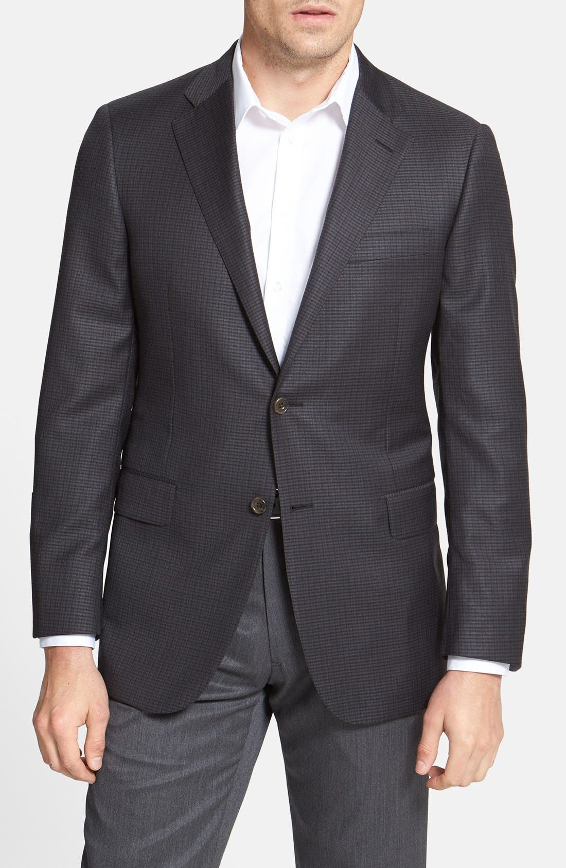 Main Image - Hickey Freeman 'Beacon' Classic Fit Check Sportcoat