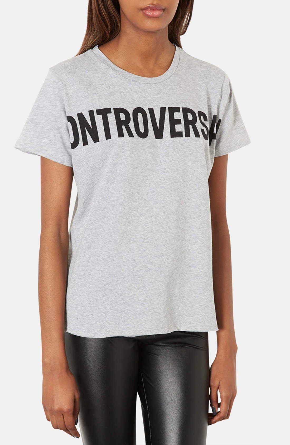 Alternate Image 1 Selected - Topshop 'Controversial' Graphic Tee