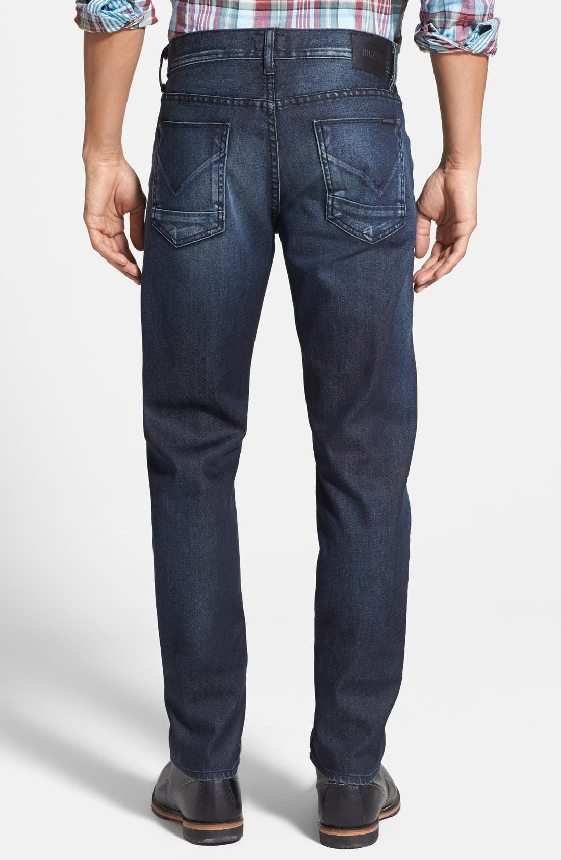 Alternate Image 2  - Hudson Jeans 'Blake' Slim Straight Leg Jeans (Darkness)