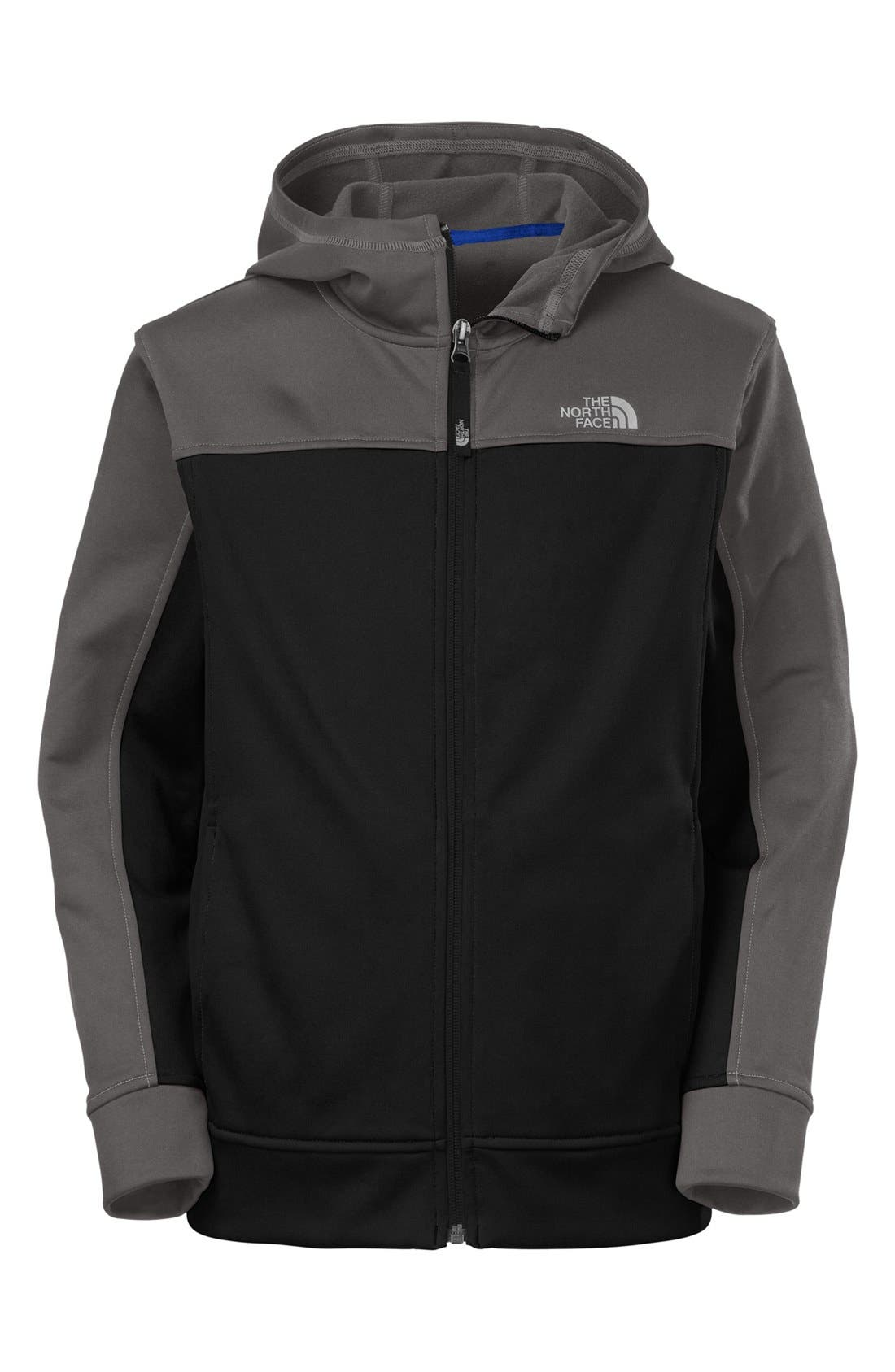 Main Image - The North Face 'Surgent' Full Zip Hoodie with Reflective Detailing (Big Boys)