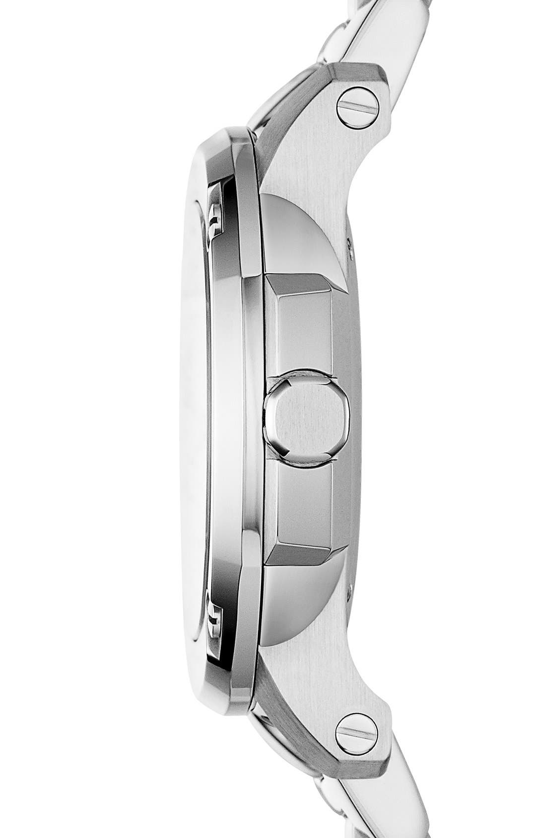 Alternate Image 3  - Burberry The Britain Mother-of-Pearl Bracelet Watch, 26mm