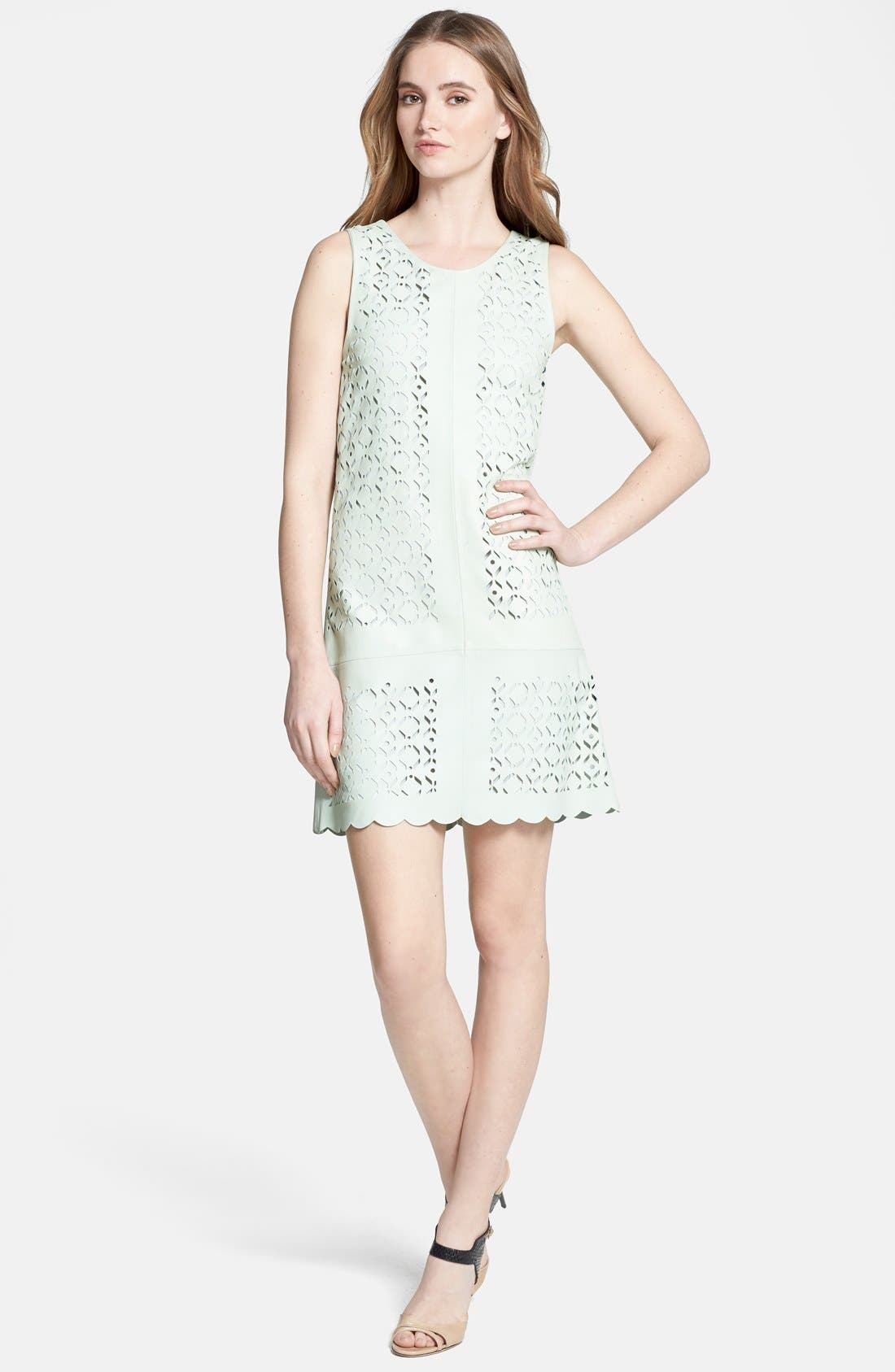Alternate Image 1 Selected - Rebecca Minkoff 'Samba' Cutout Leather Shift Dress