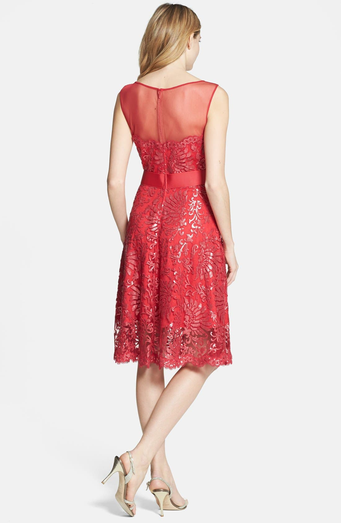 Alternate Image 2  - Tadashi Shoji Illusion Yoke Embellished Lace A-Line Dress