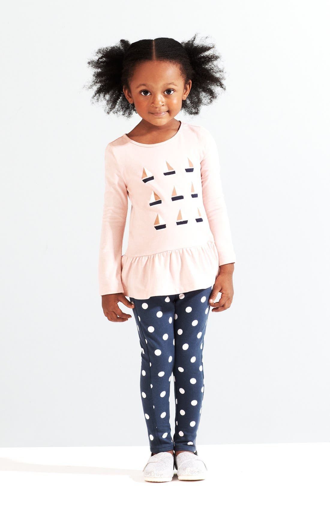 Alternate Image 1 Selected - Tucker + Tate Tunic & Printed Jeggings (Little Girls & Big Girls)