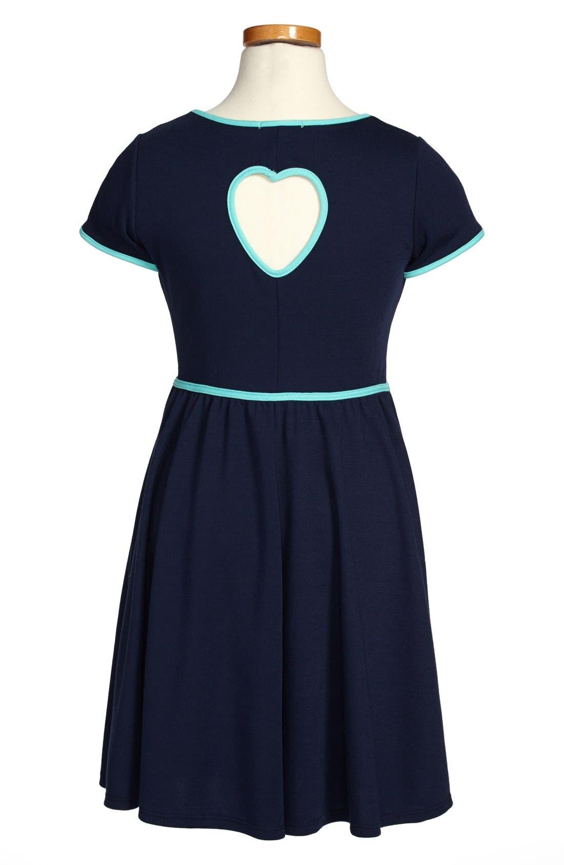 Alternate Image 2  - Soprano Cap Sleeve Knit Dress (Big Girls)