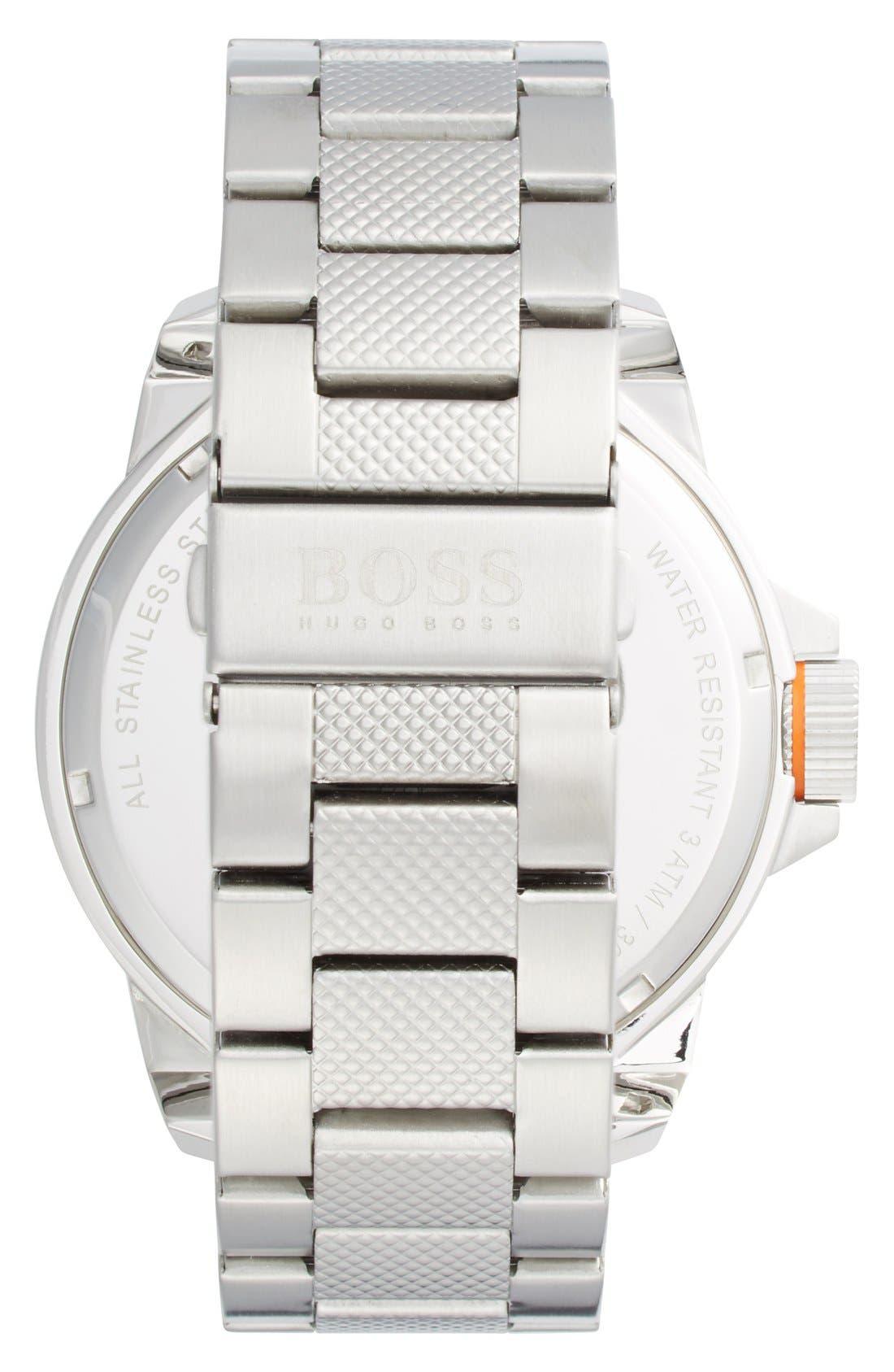 Alternate Image 2  - BOSS Orange Textured Bracelet Watch, 50mm