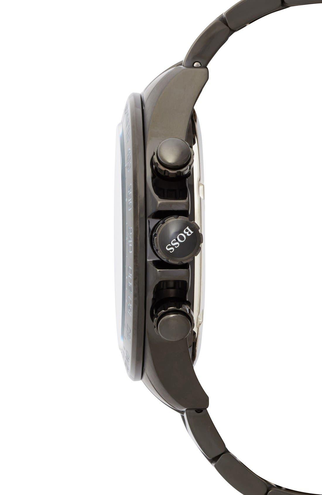 Alternate Image 2  - BOSS Round Chronograph Bracelet Watch, 44mm