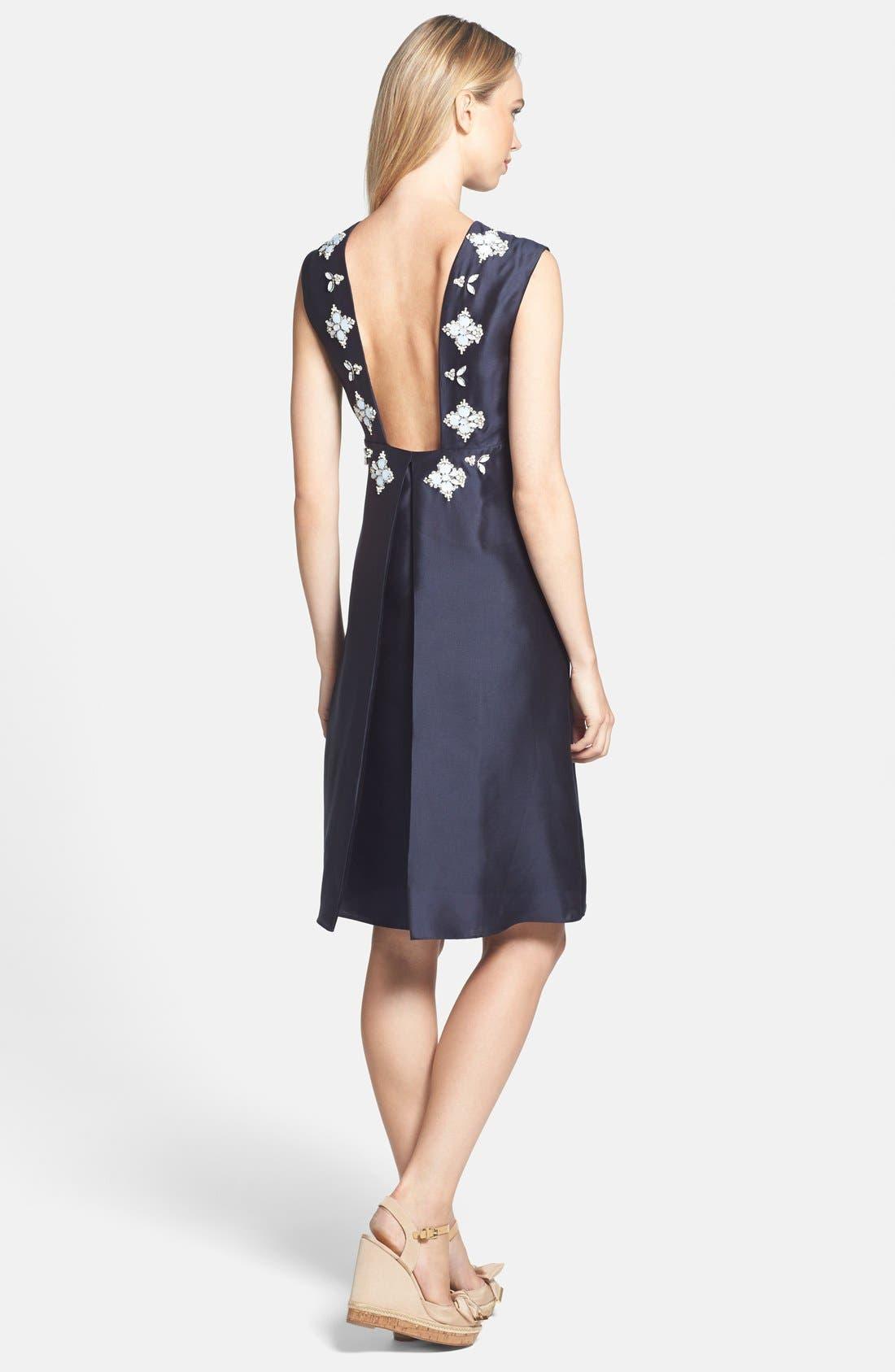 Alternate Image 2  - Tory Burch 'Colton' Embellished Silk A-Line Dress