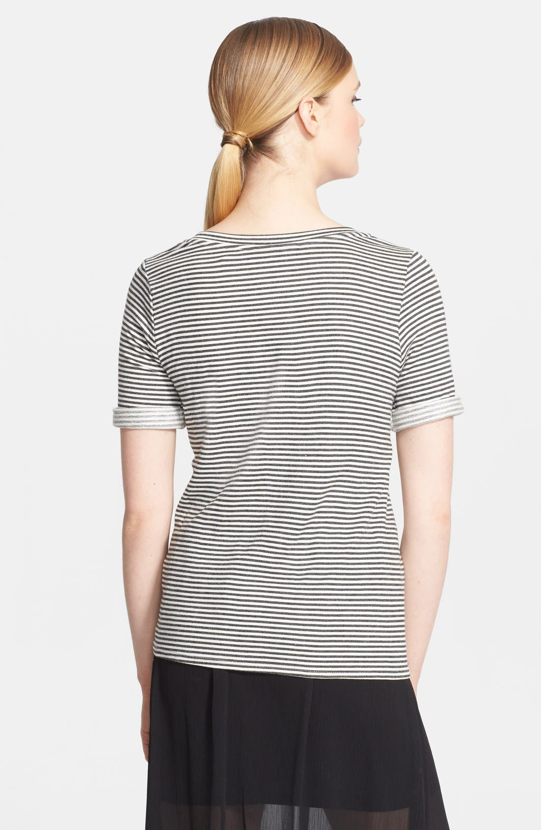 Alternate Image 2  - Alice + Olivia Stripe Jersey Tee