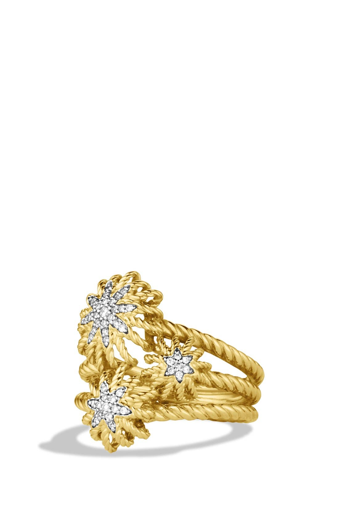 Main Image - David Yurman 'Starburst' Cluster Ring with Diamonds in Gold