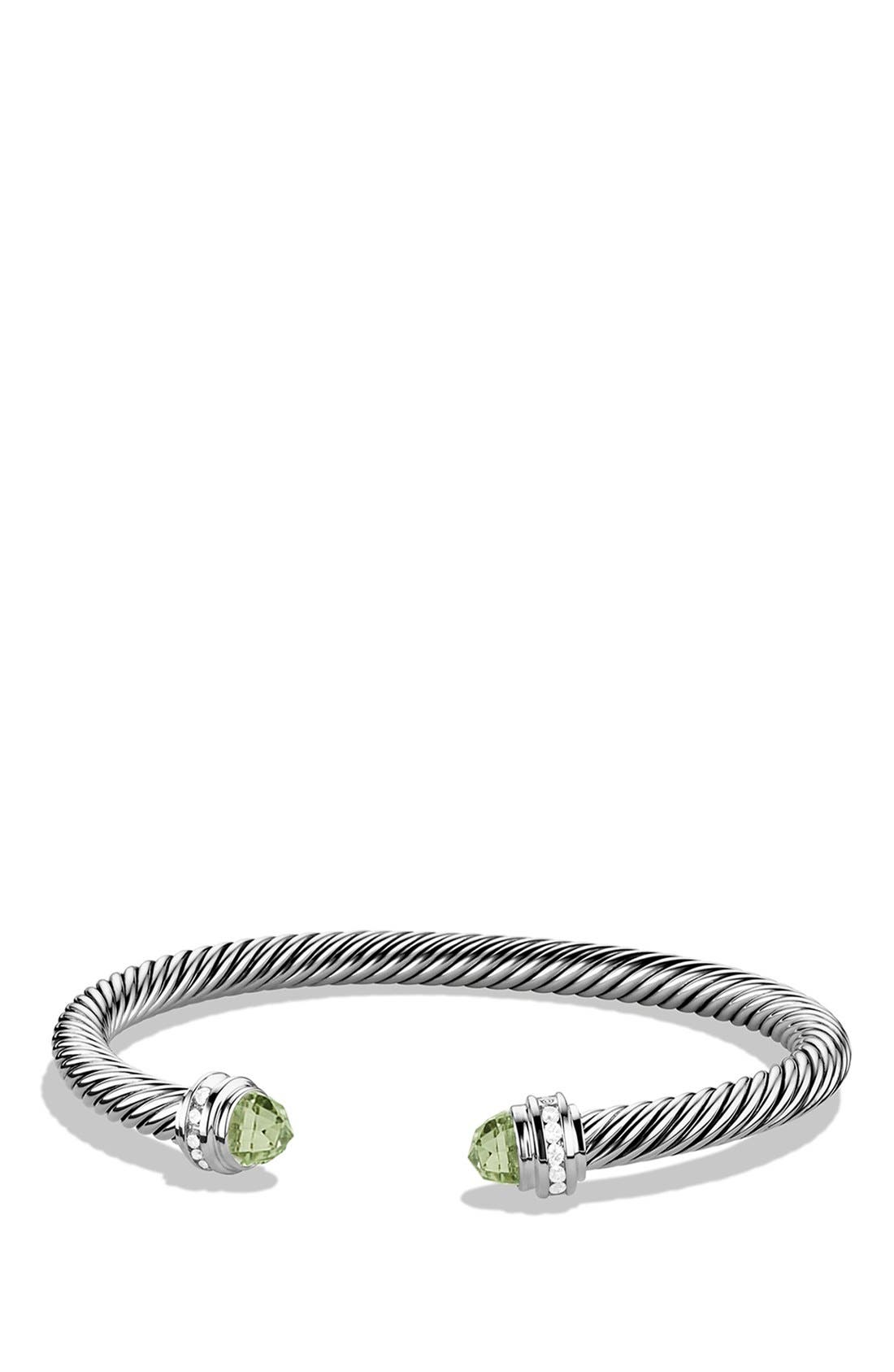 Alternate Image 1 Selected - David Yurman 'Cable Classics' Bracelet with Semiprecious Stones & Diamonds