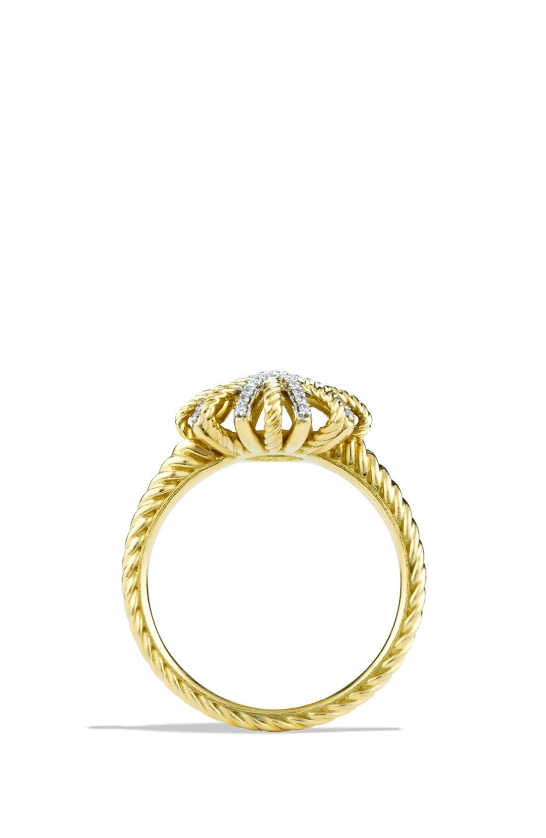 Alternate Image 4  - David Yurman 'Starburst' Ring with Diamonds in Gold