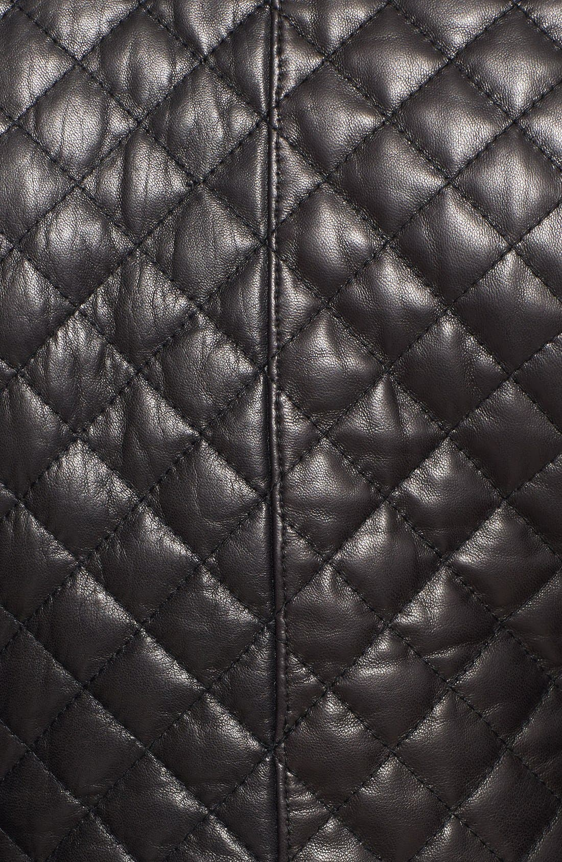 Alternate Image 3  - Cole Haan Quilted & Smooth Leather Jacket