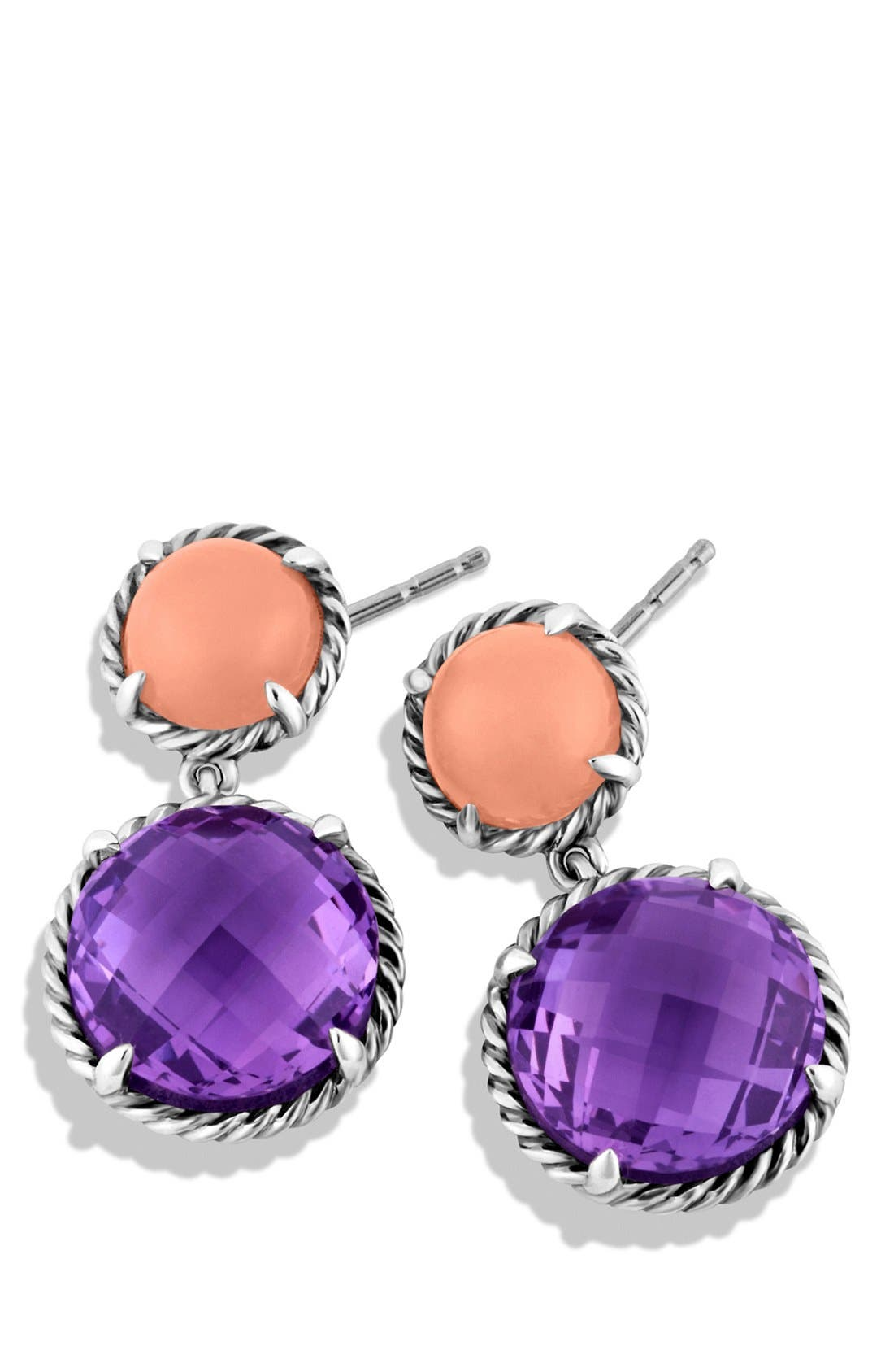 Alternate Image 2  - David Yurman 'Châtelaine' Double Drop Earrings with Amethyst and Guava Quartz