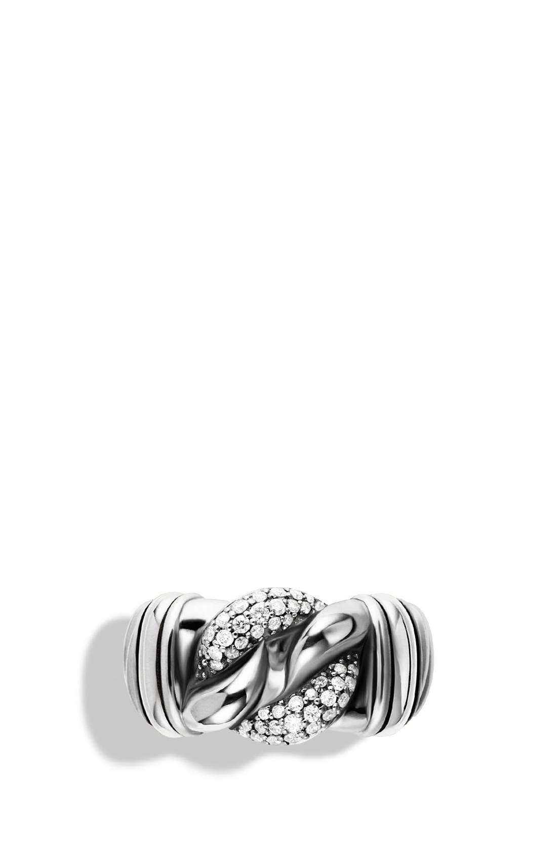 Alternate Image 3  - David Yurman 'Metro' Curb Wide Ring with Diamonds